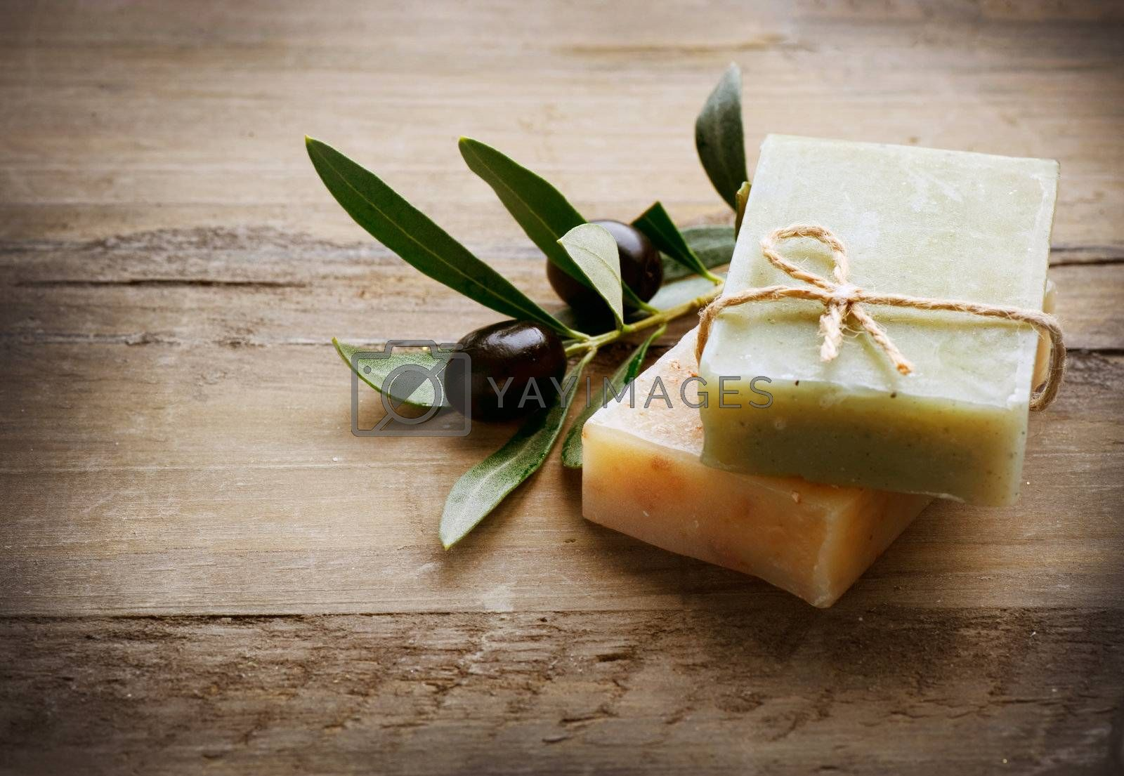 Natural Handmade Soap and Olives by Subbotina Anna