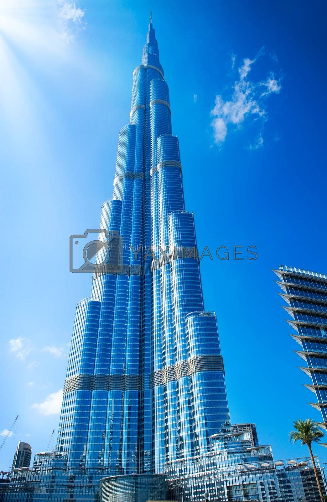 DUBAI, UAE. - NOVEMBER 29 : Burj Dubai - tallest building in the world, at 828m. on November 29, 2011 in Dubai, UAE. View from Downtown Dubai