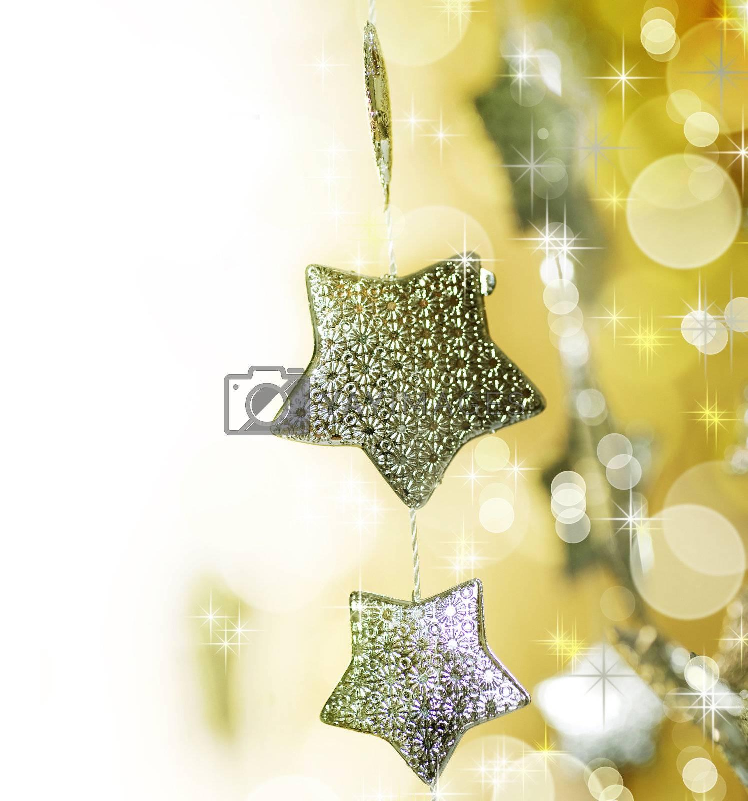 Christmas decoration border by Subbotina Anna