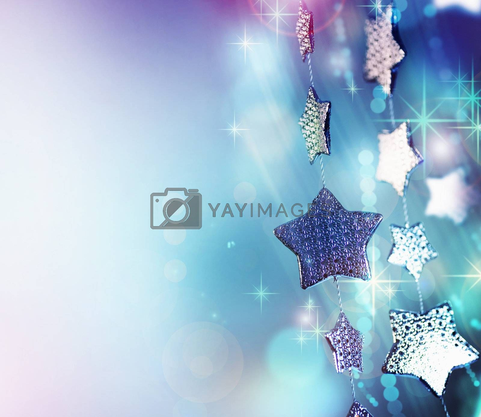 Abstract Christmas background. Holiday abstract background by Subbotina Anna