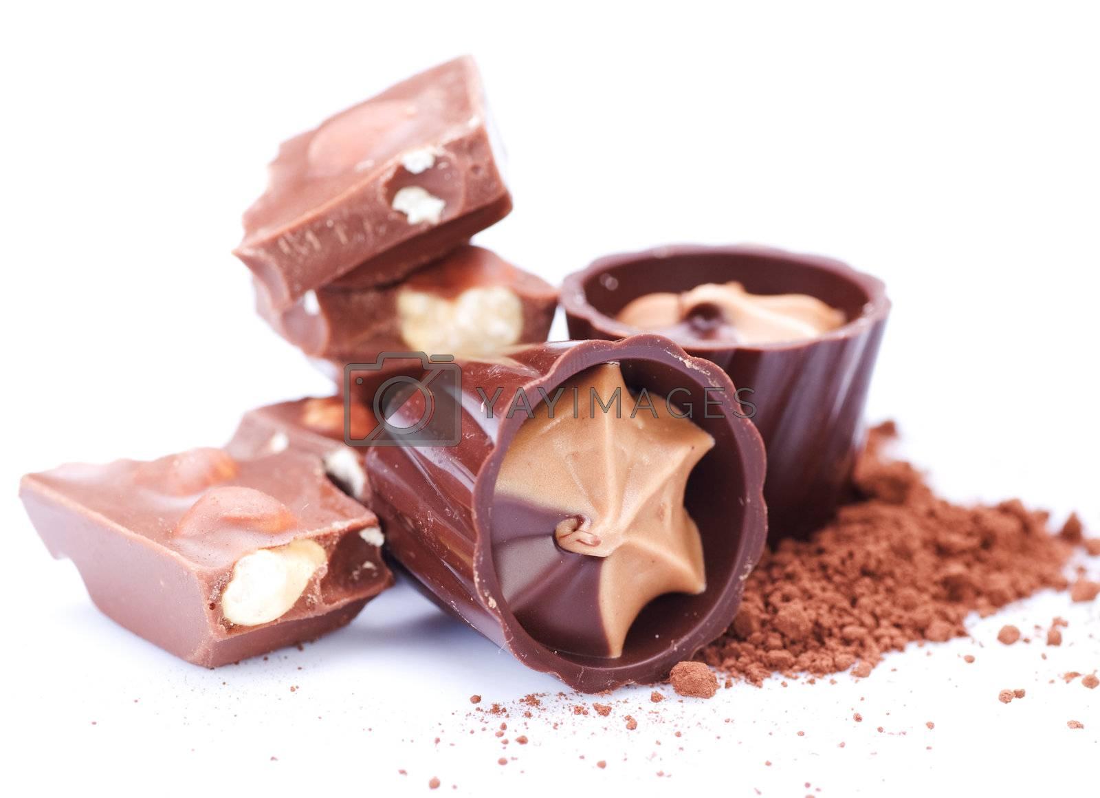 Chocolate over white by Subbotina Anna