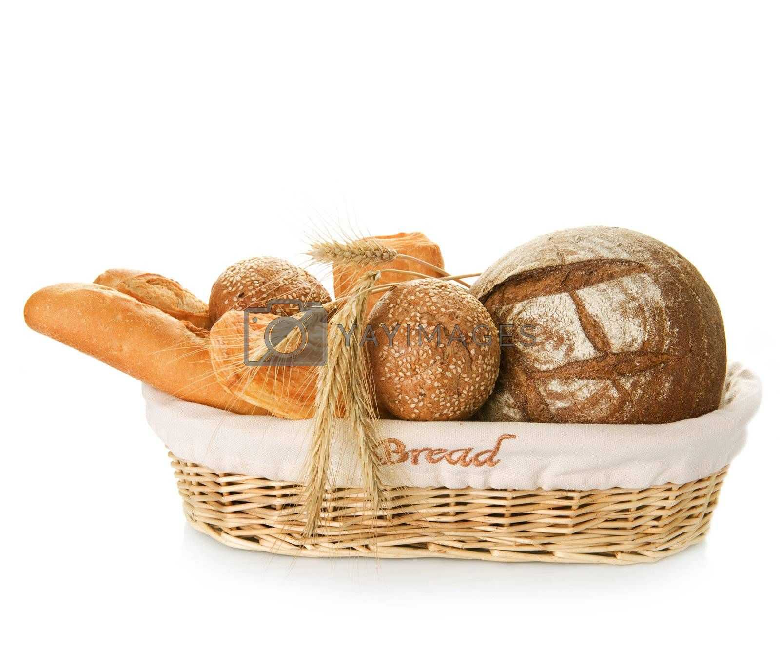 Bakery Bread Over White by Subbotina Anna