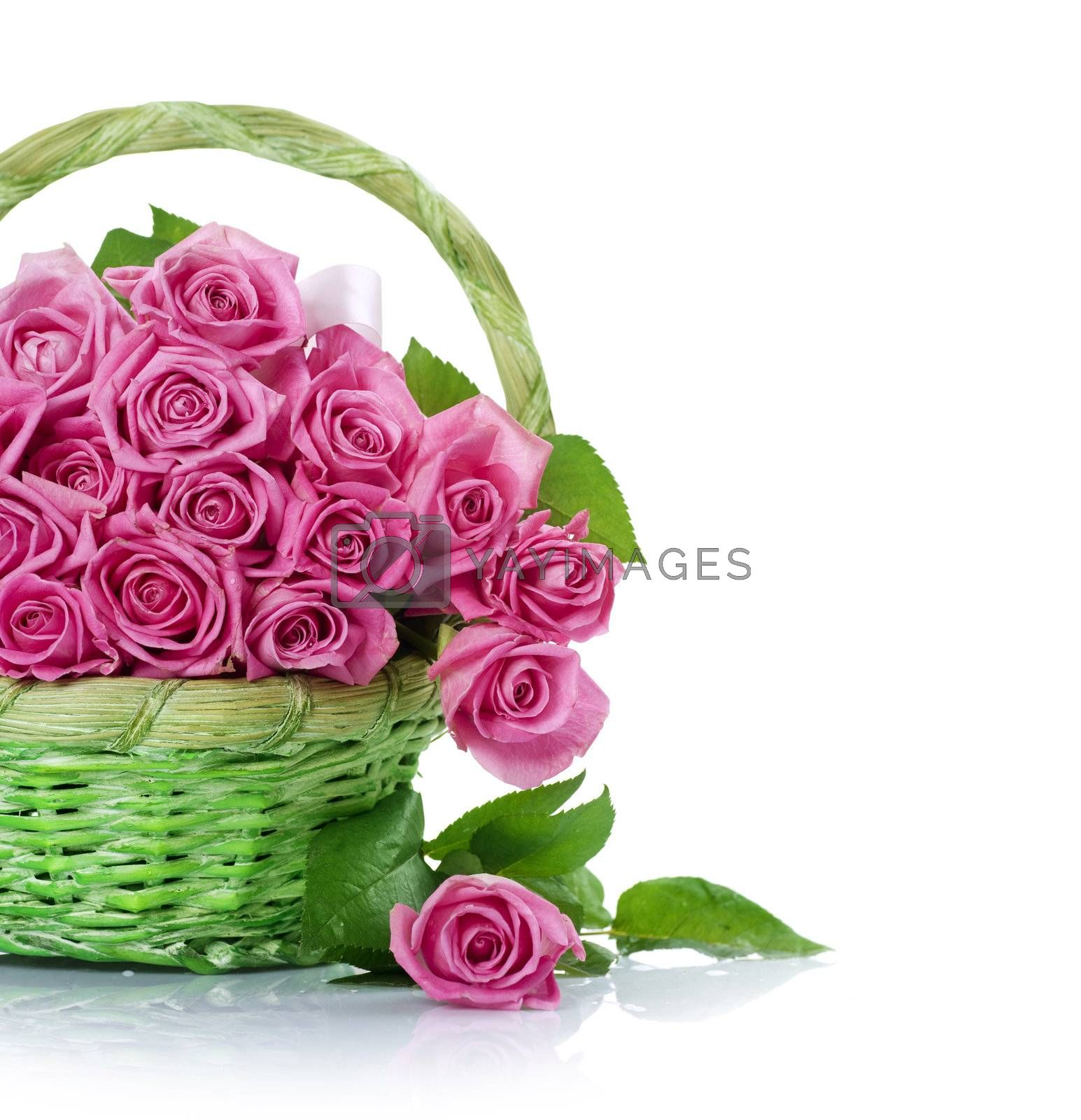 Roses in the Basket by Subbotina Anna