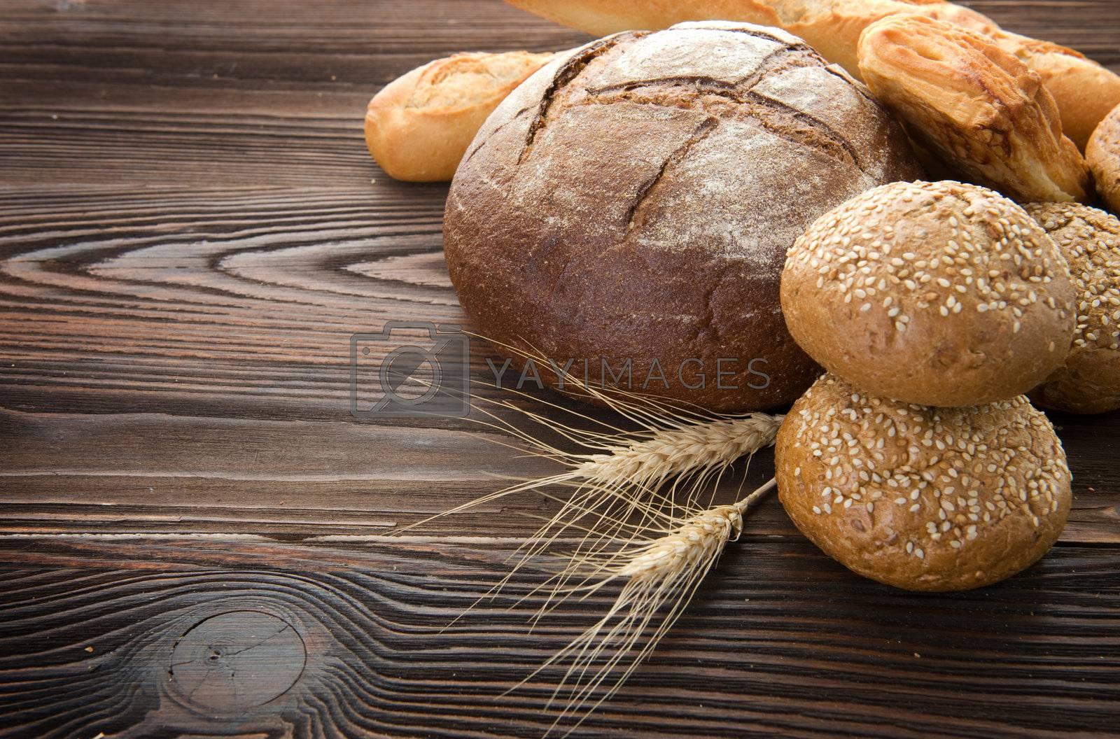 Baked Bread Border by Subbotina Anna