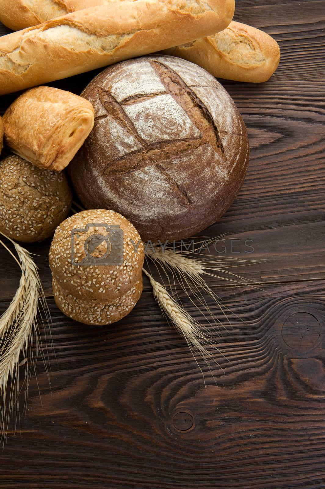 Beautiful Bakery Bread Border by Subbotina Anna
