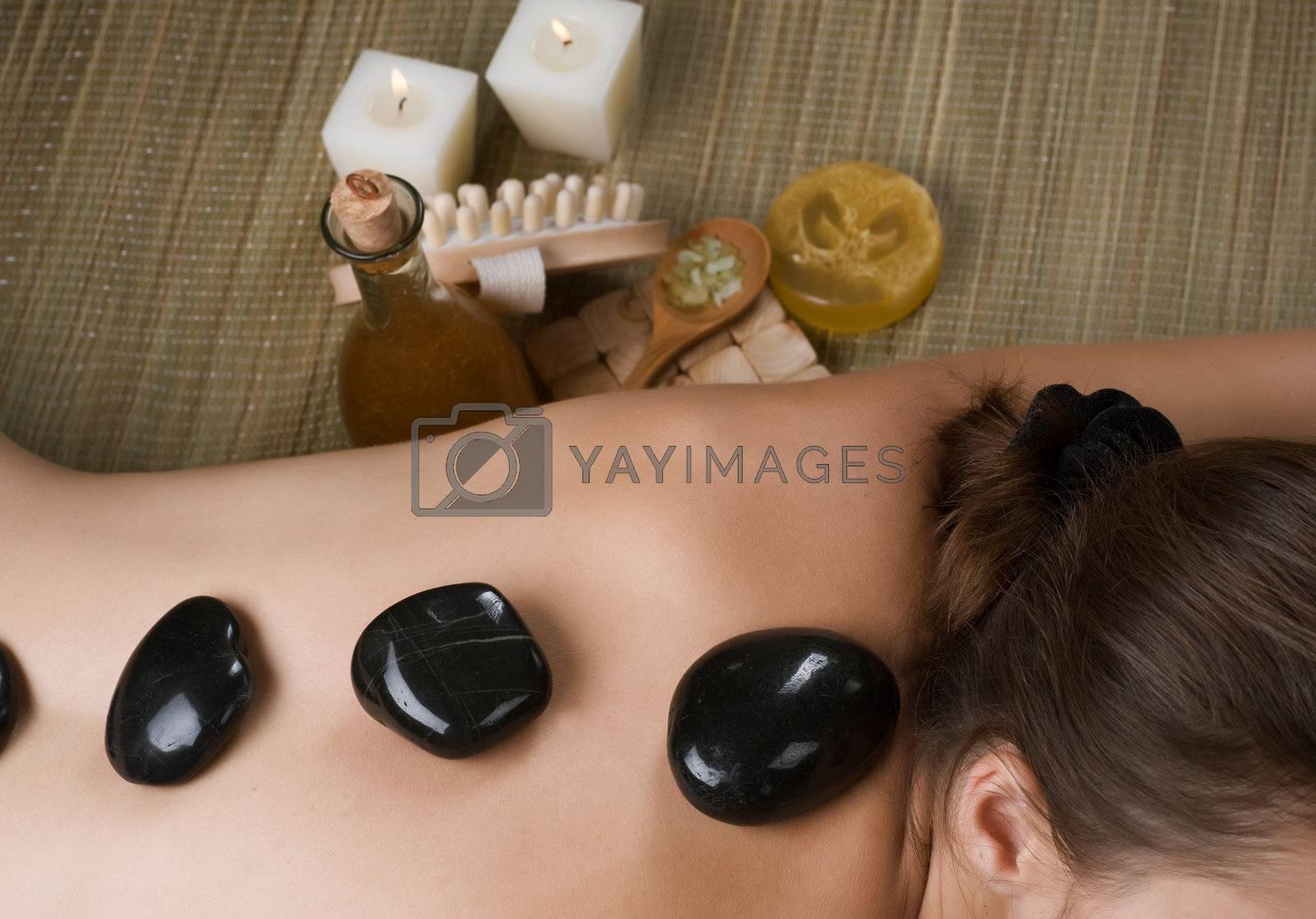 Spa. Hot Stone Massage by Subbotina Anna