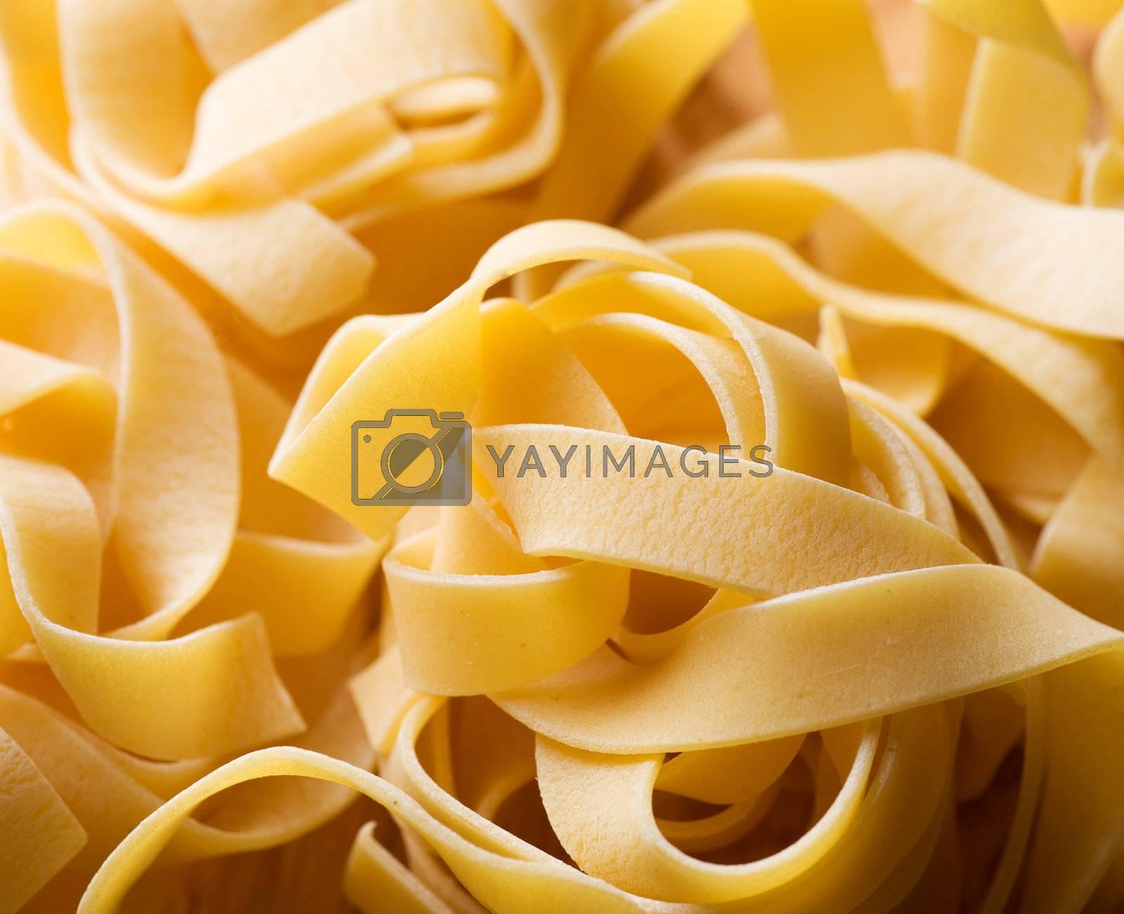 Pasta background. Selective Focus