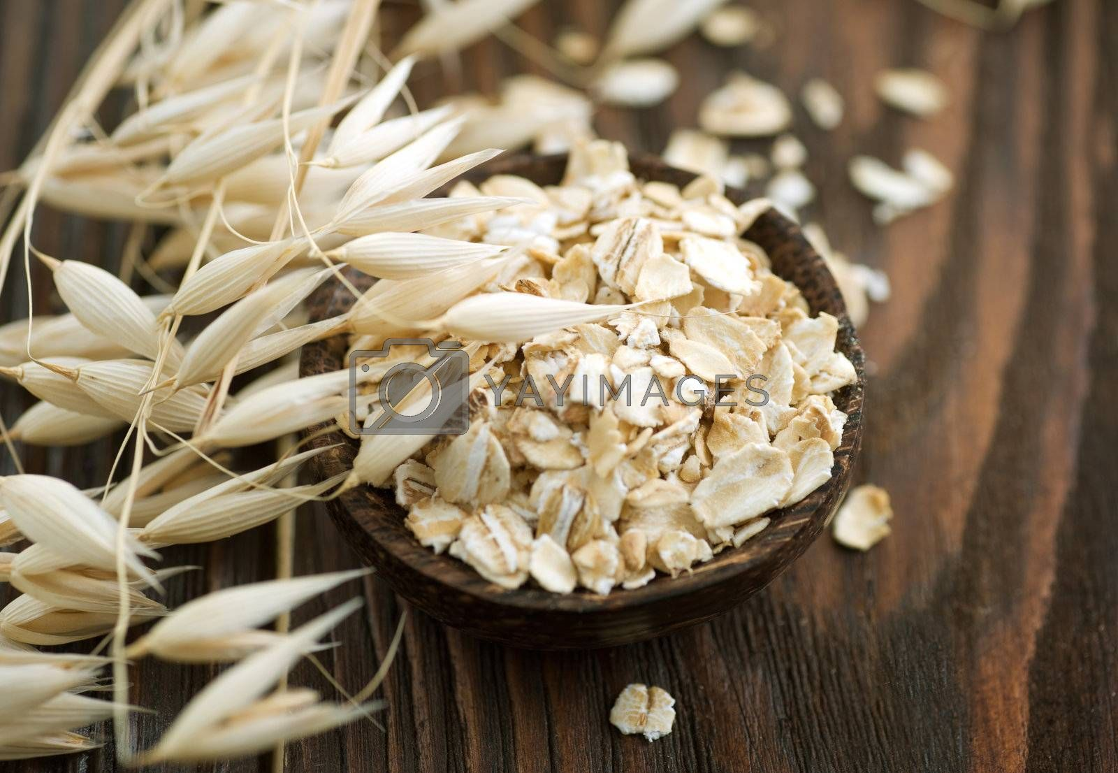 Oat Flakes Closeup