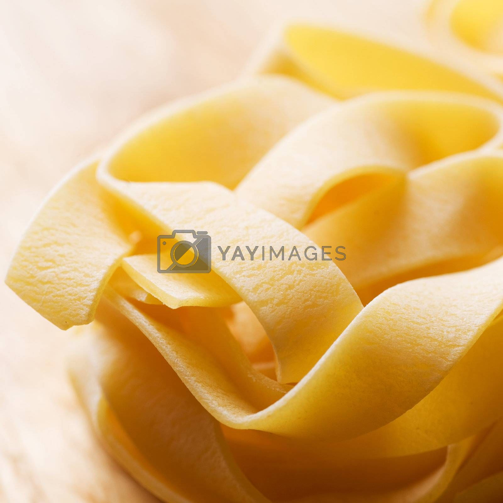 Italian pasta closeup. Macaroni. Selective Focus