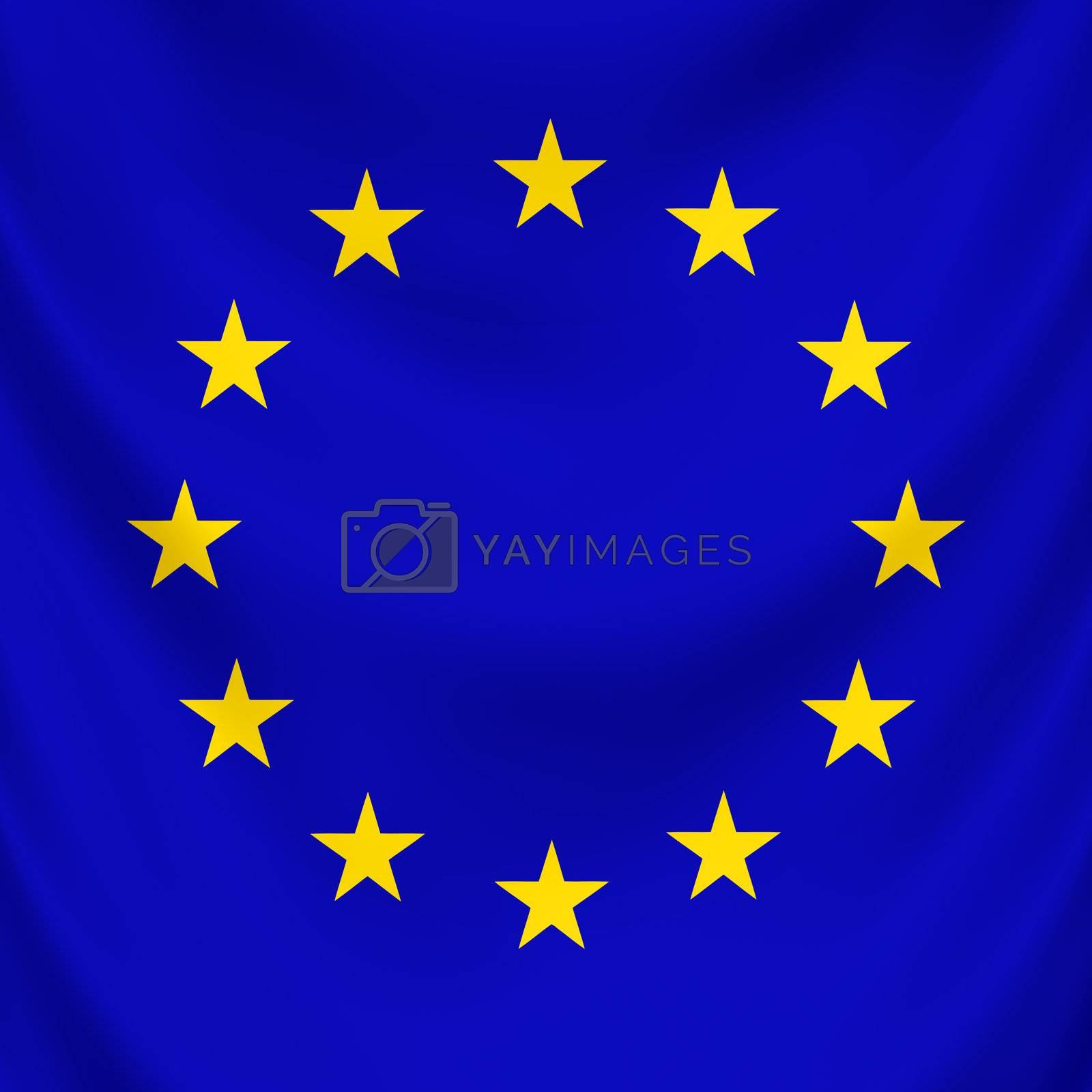 Symbol of united countries in Europe, EU
