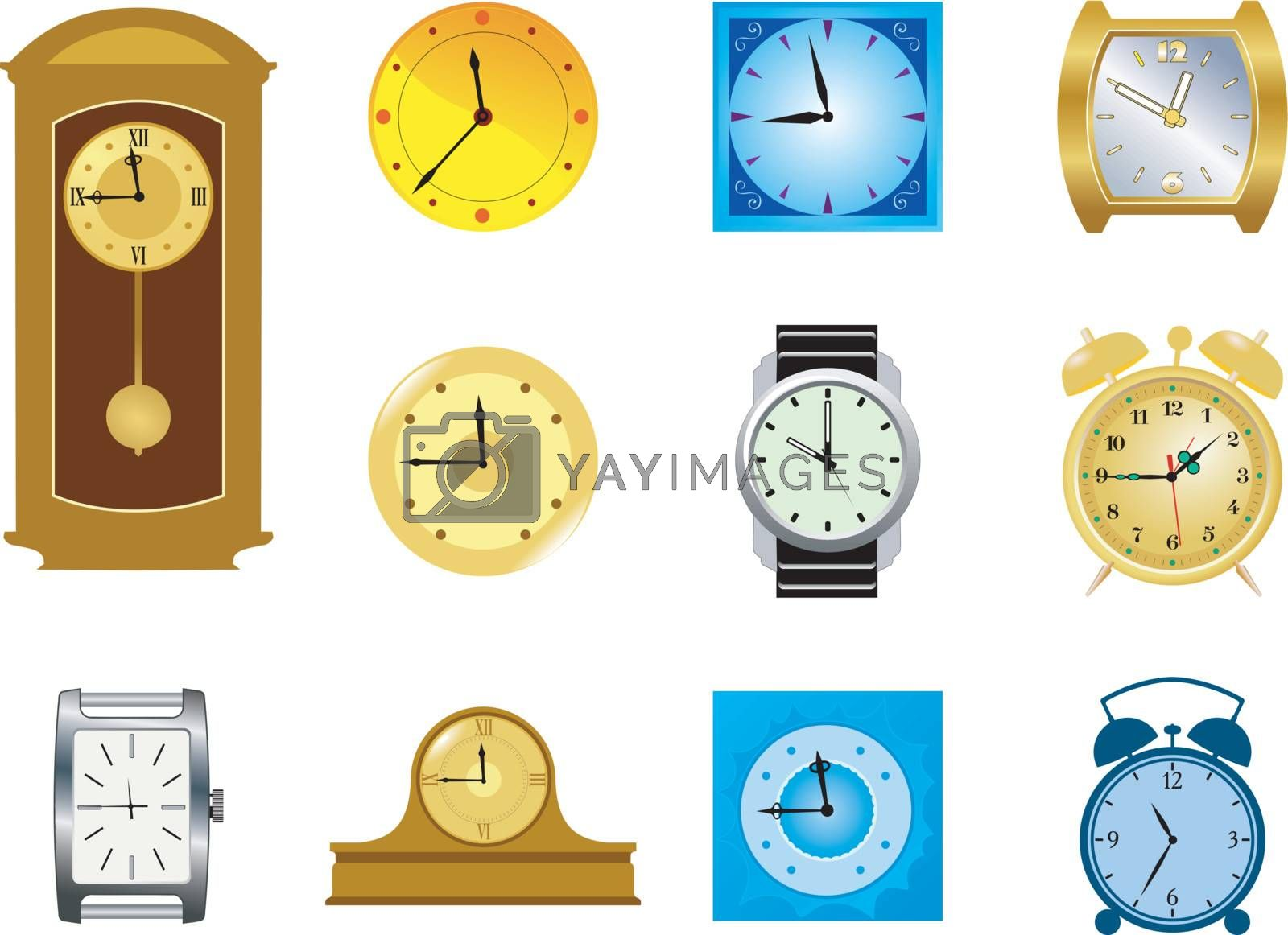 set of the different kinds of clocks