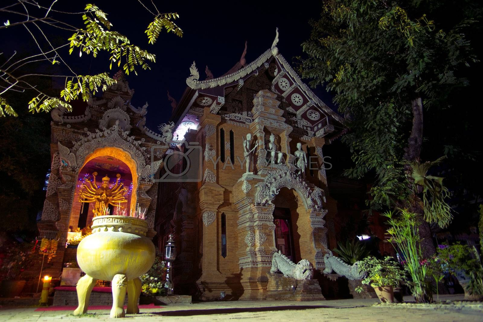 Temple Lok Molee in Chiangmai, Thailand, Asia