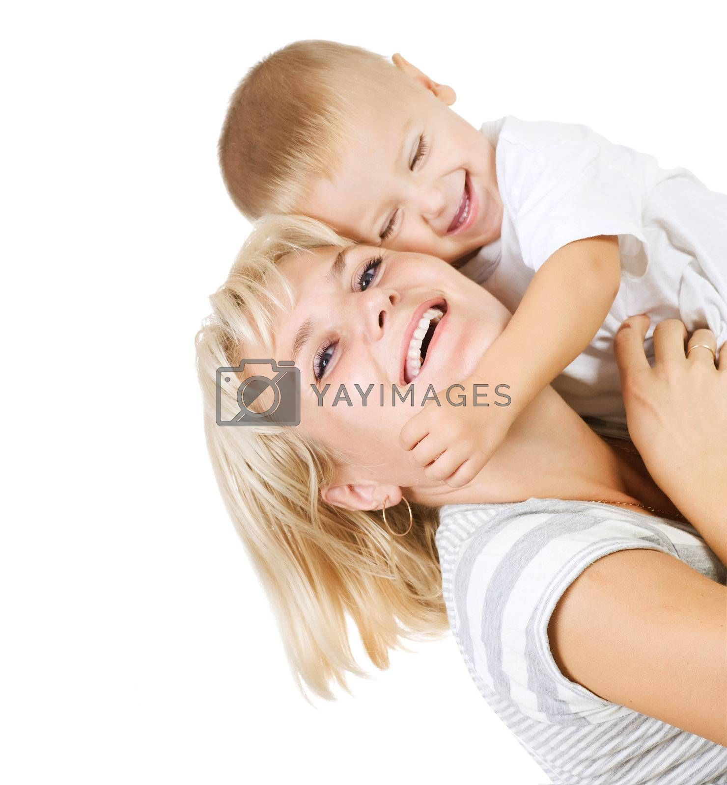 Happy Mother with Baby by Subbotina Anna
