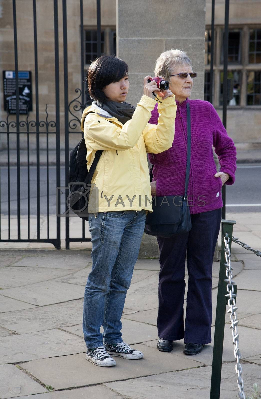 Tourists in Oxford England UK by Peter t