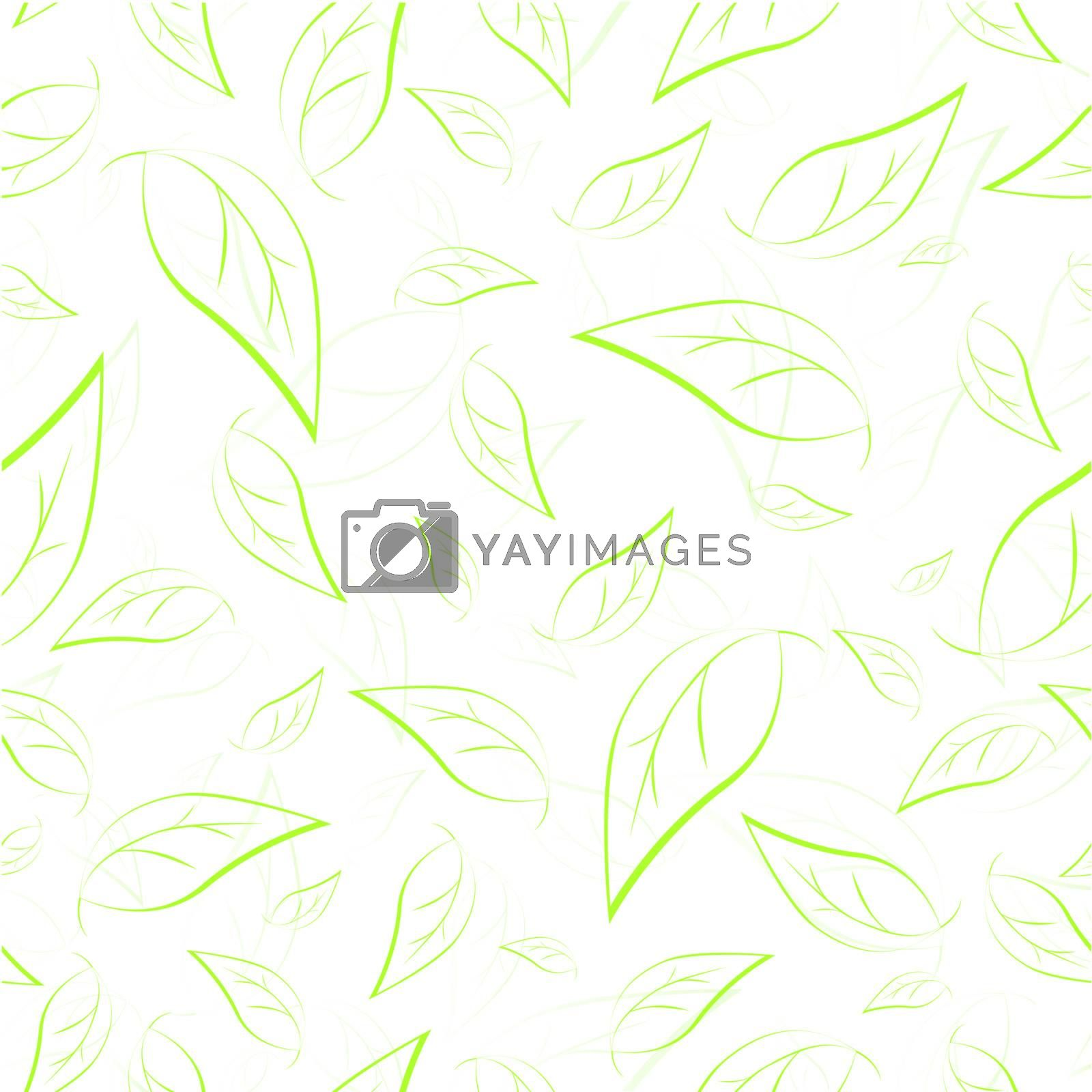 simple seamless green leaves pattern