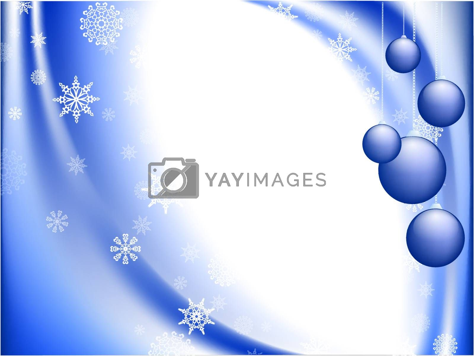 Merry Christmas and Happy New year greeting card with copyspace