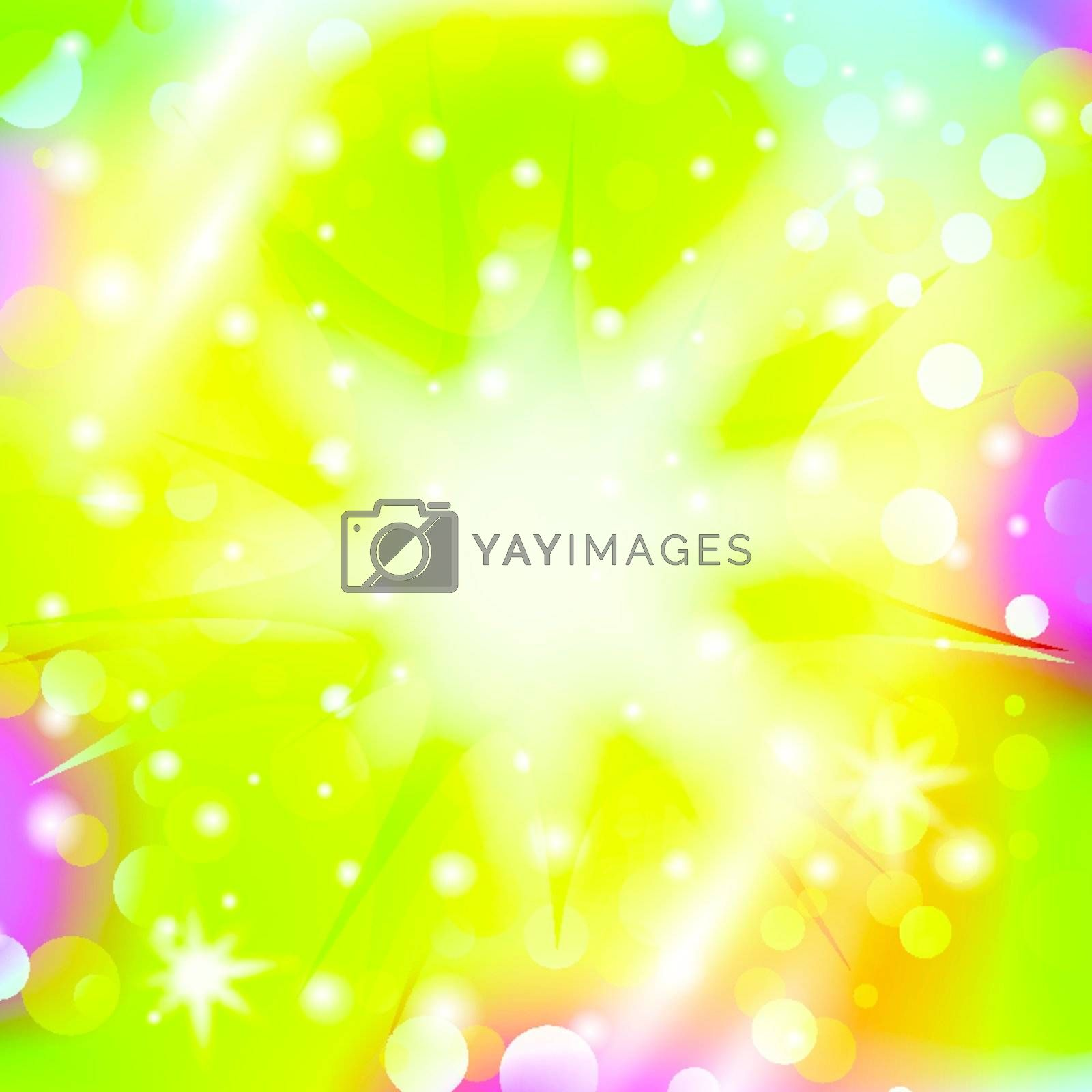 abstract explosion over multicolored bright holiday background