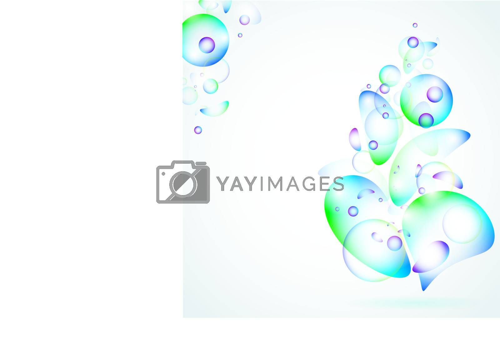 multicolored abstract illustration with coptspace