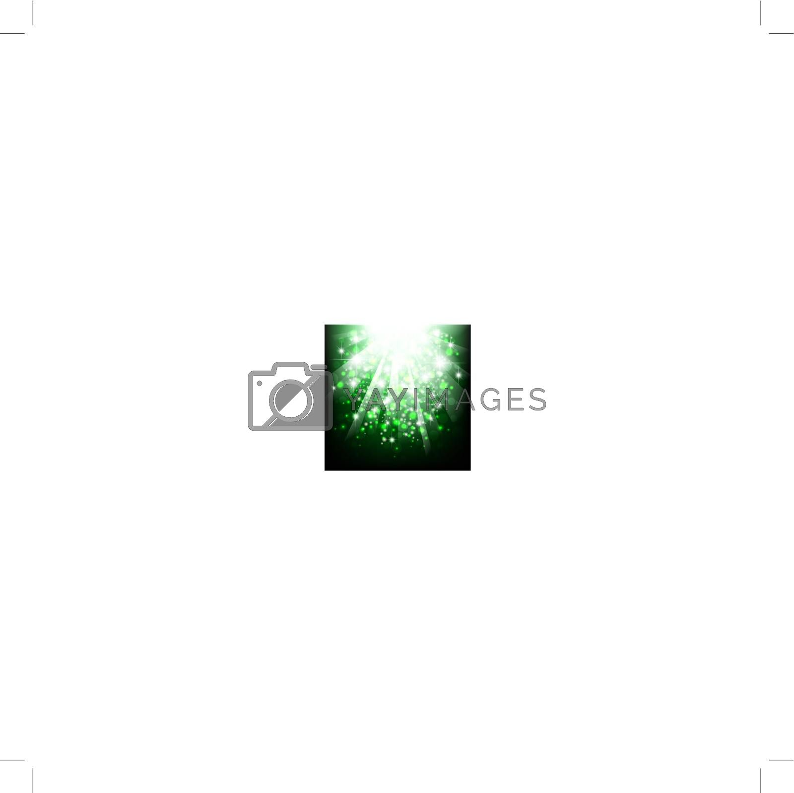 bright abstract explosion with stars over green