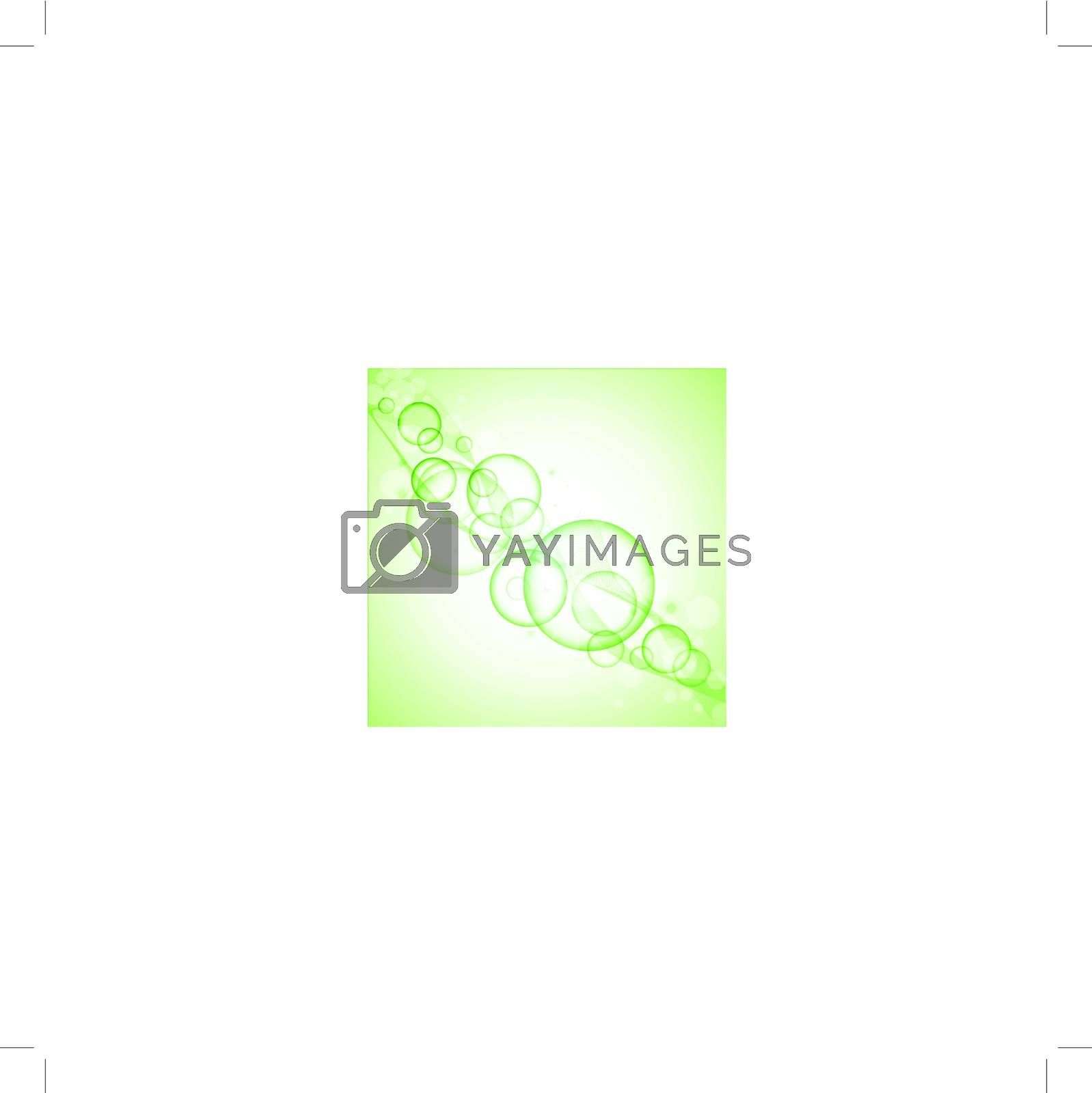 abstract clear green background with round shapes