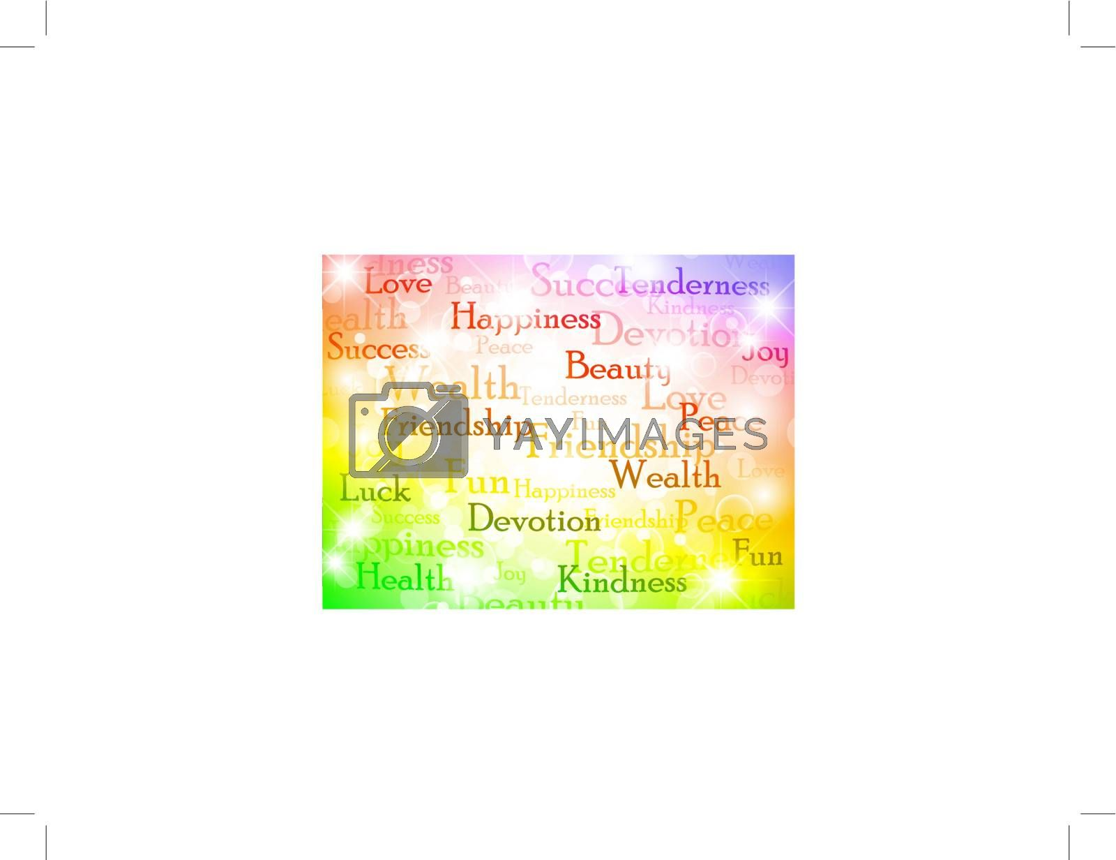 multicolored best wishes bright background