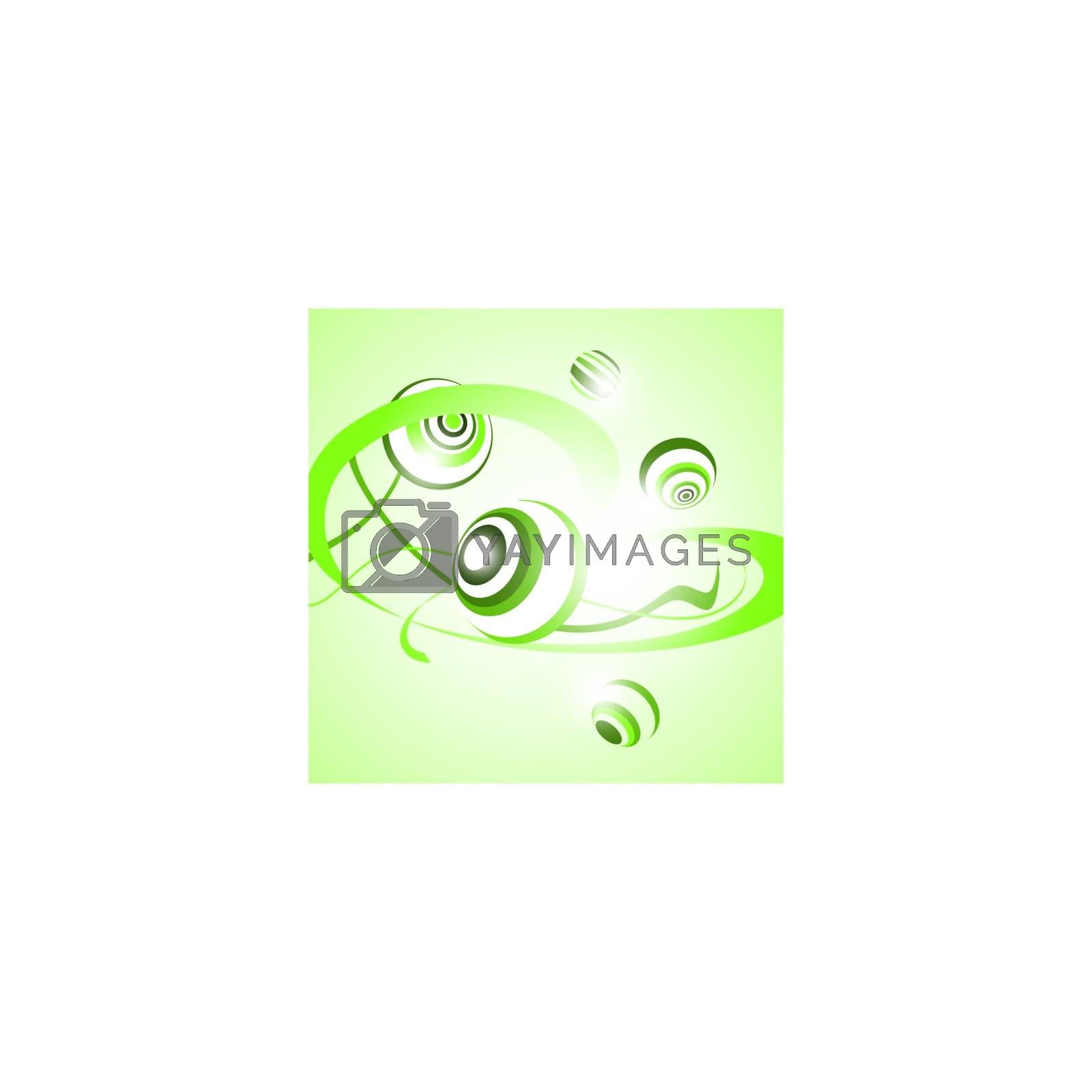 abstract green background with round shapes