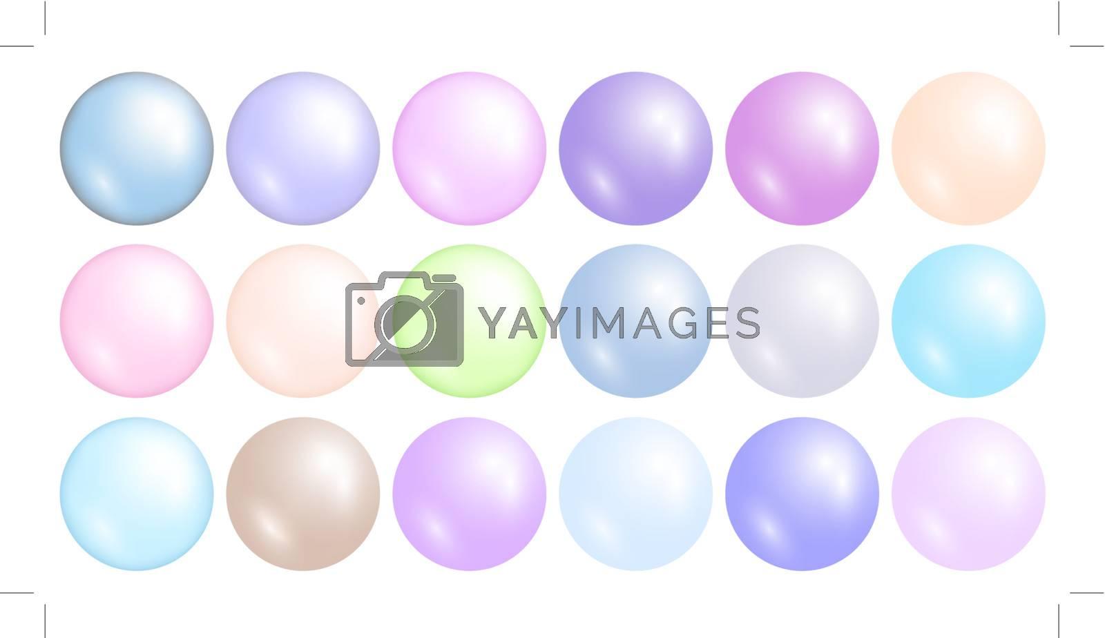 multicolored pearl set