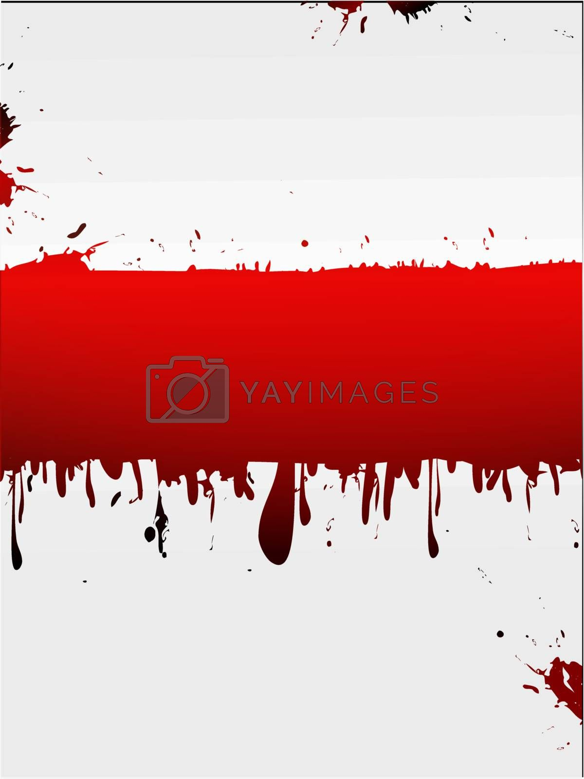 grunge liquid white background with red copyspace for your text