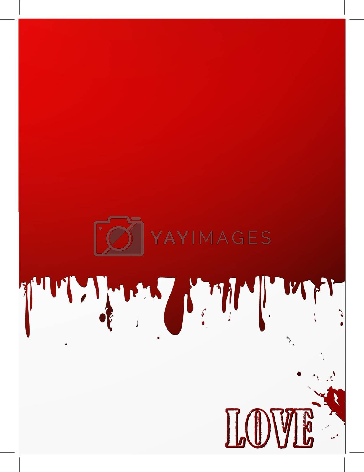 grunge liquid red background with copyspace for your text