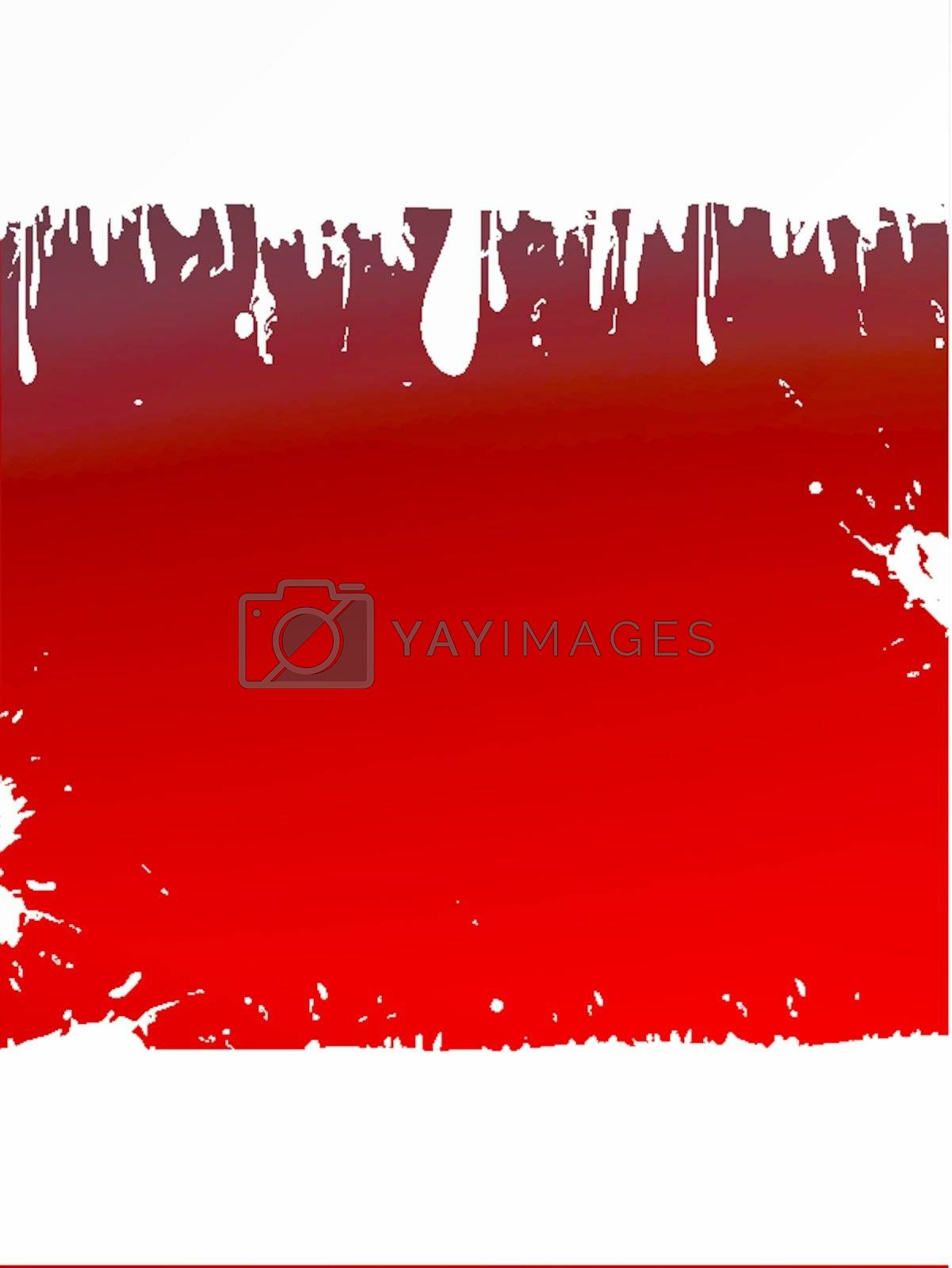 grunge liquid background with red copyspace for your text