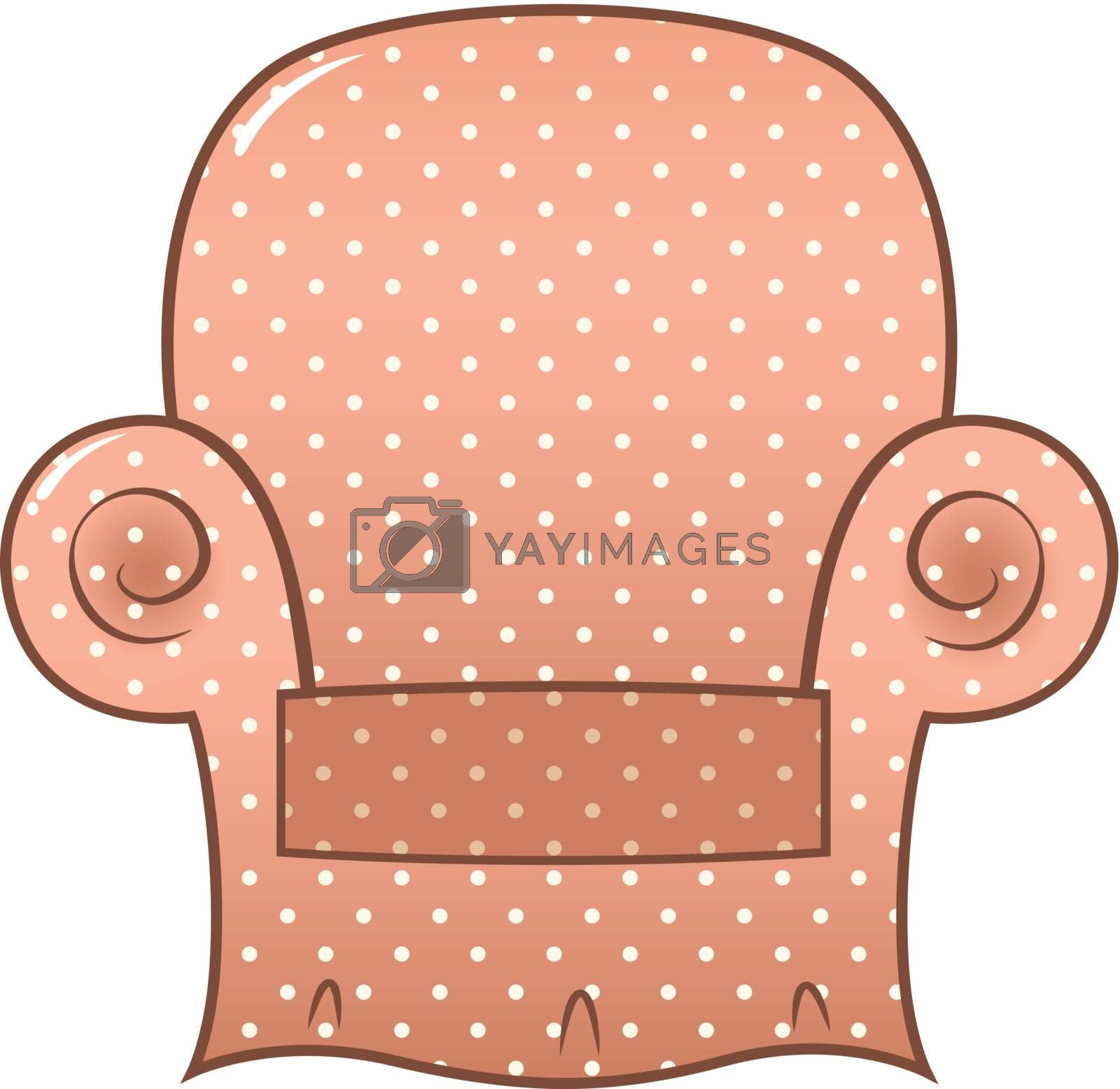 Brown chair isolated on white. Vector Illustration