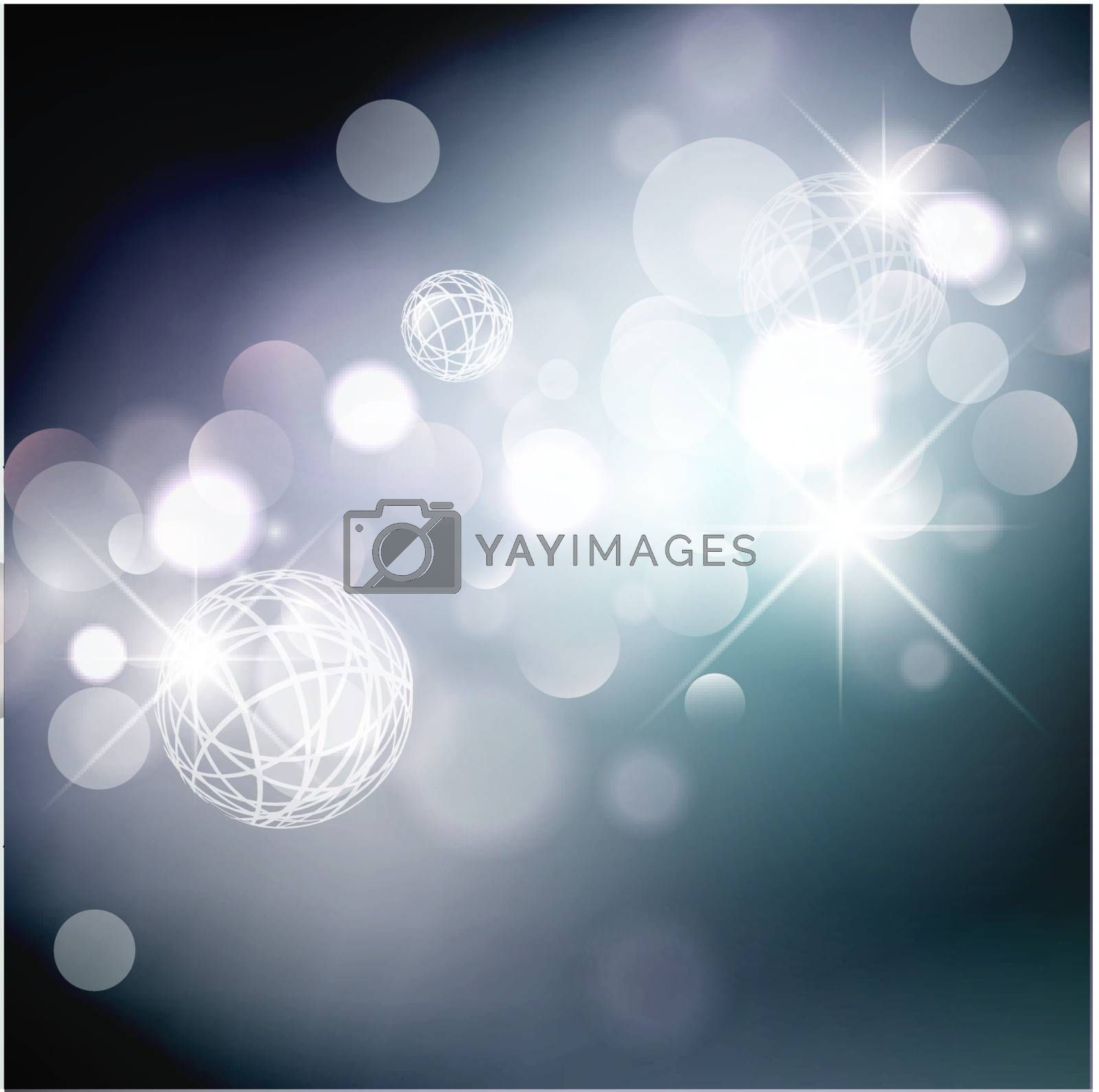 Abstract Holiday Background With Lights and Stars