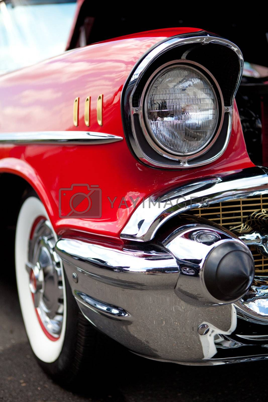 Classic Car Headlight by graficallyminded