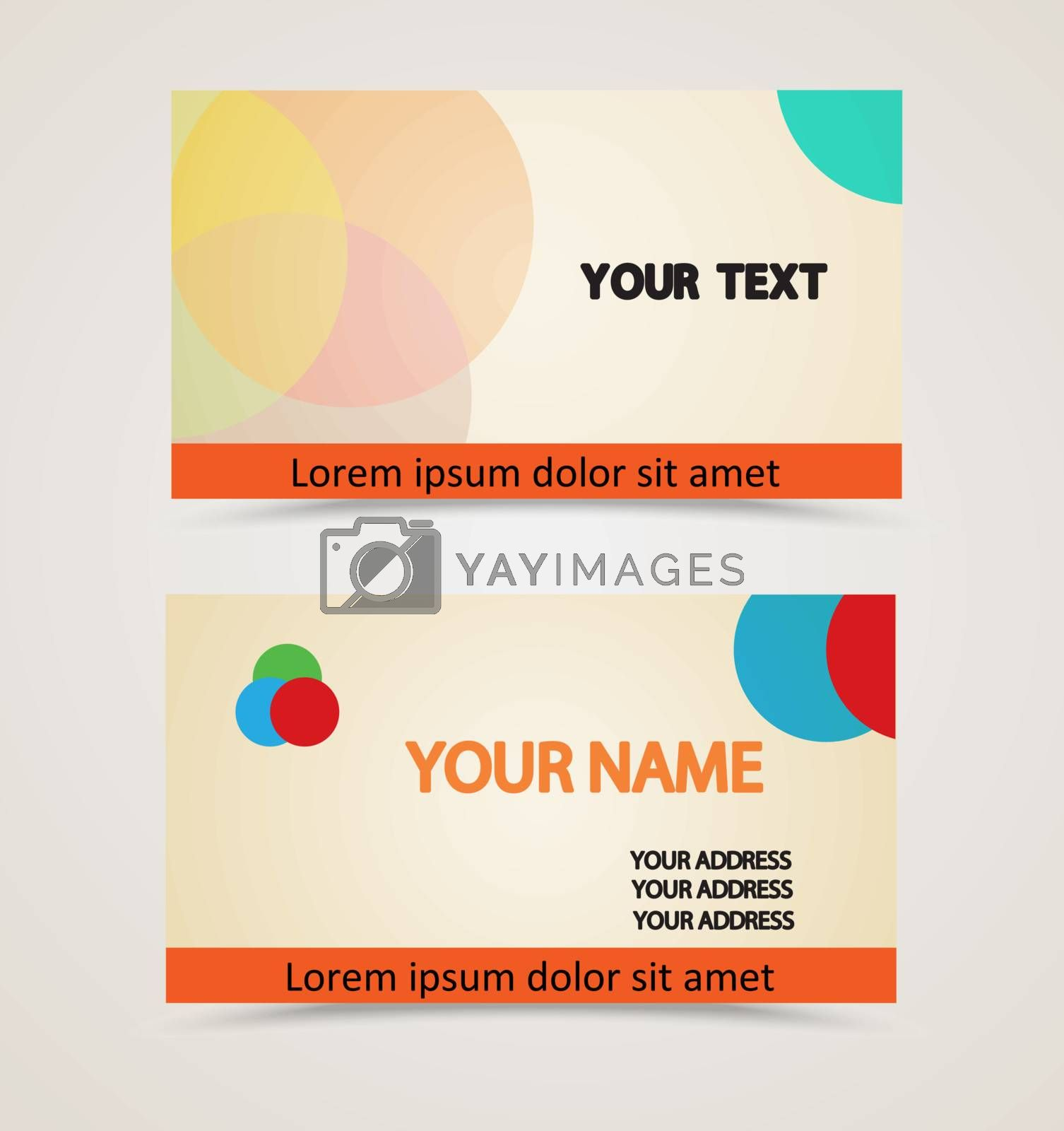 Retro vintage business card by smoki