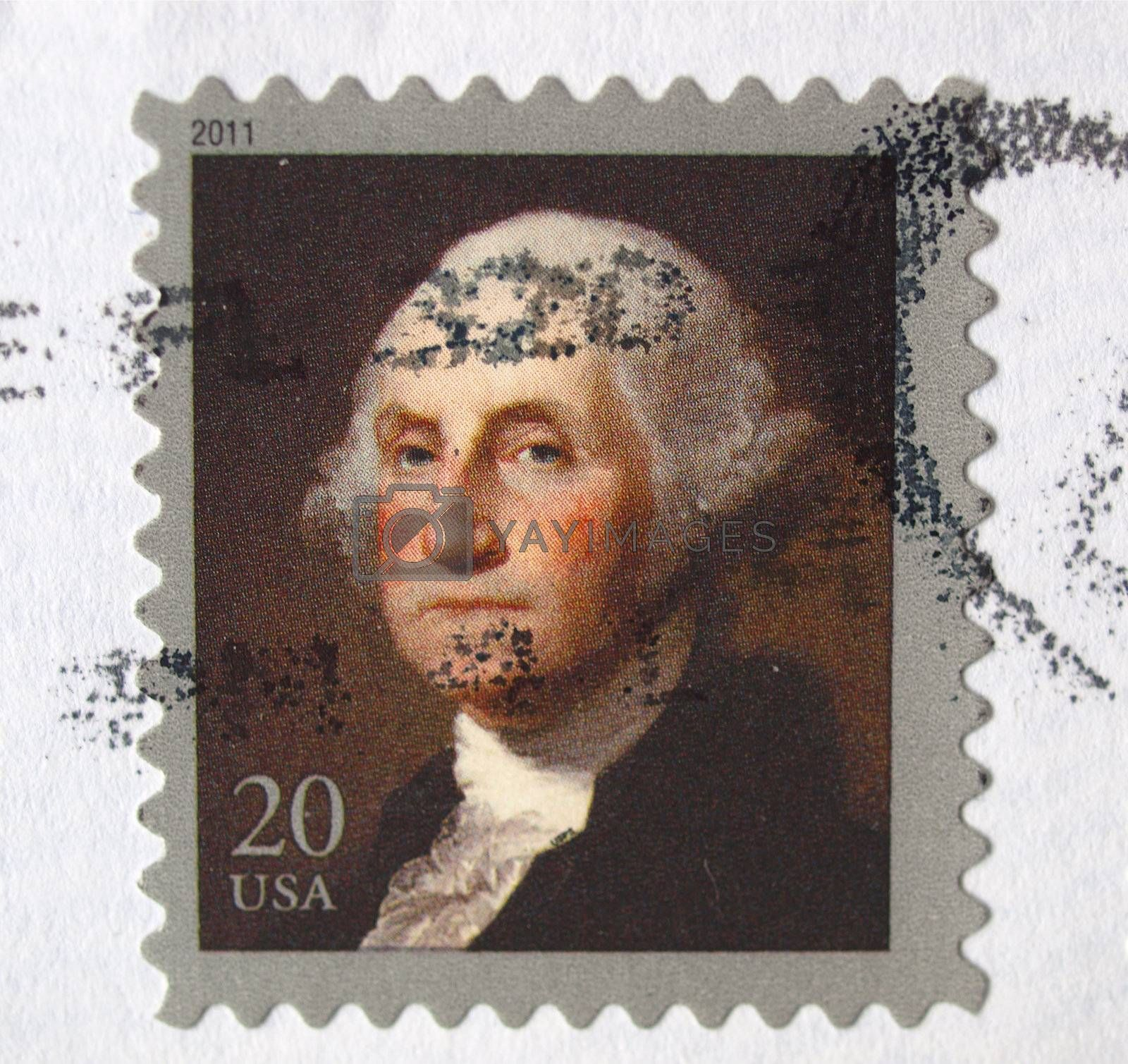 USA, 2011 - United States of America (USA) postage stamp depicting president George Washington (1732-1799), USA, 2011