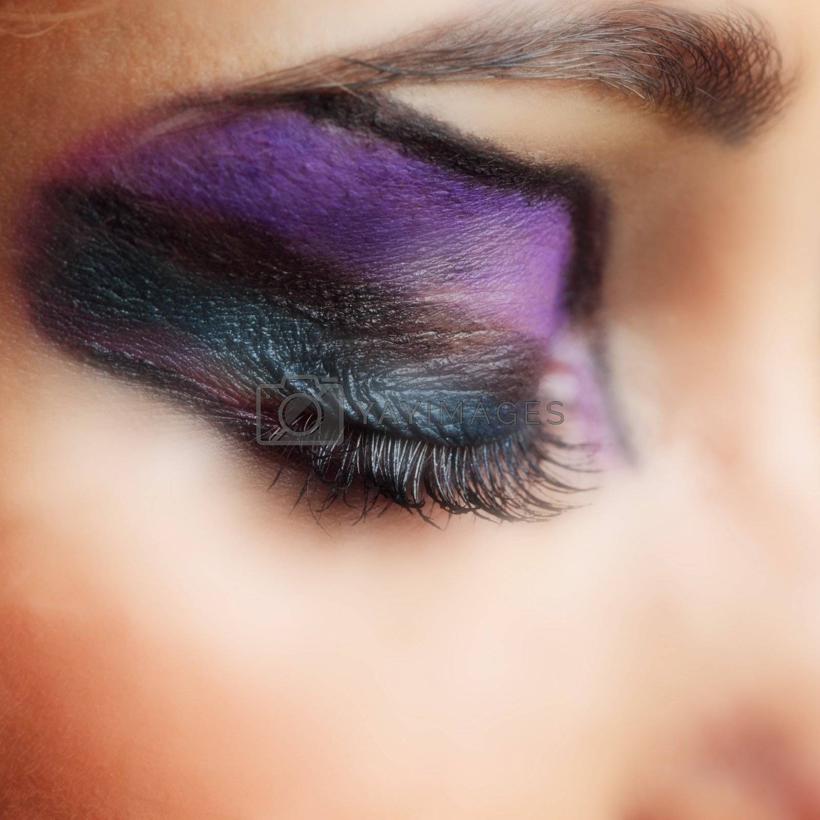 make up close up in studio