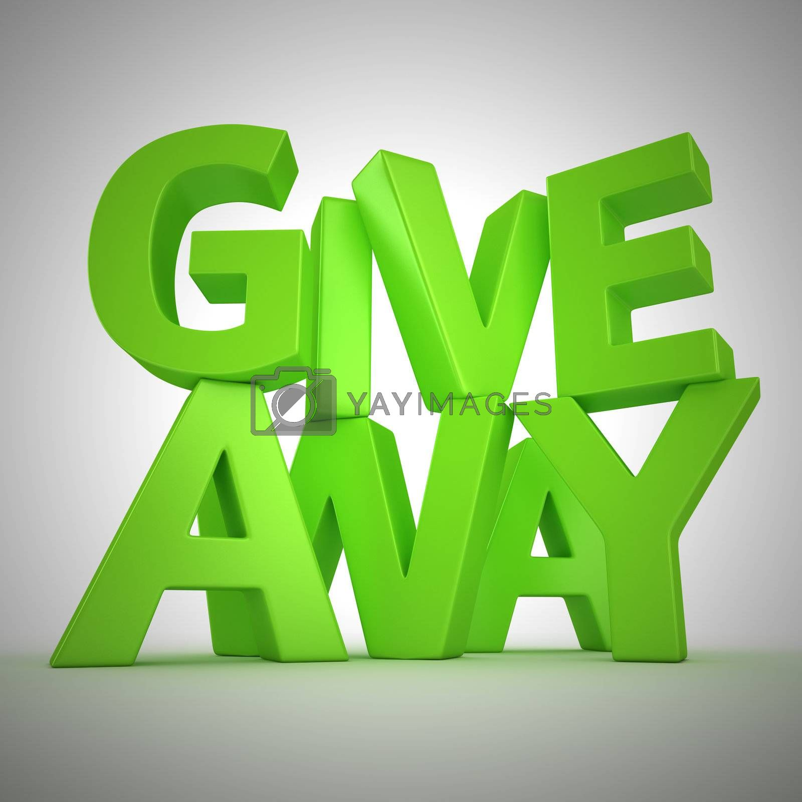 """Text """"Giveaway"""" made from green letters"""