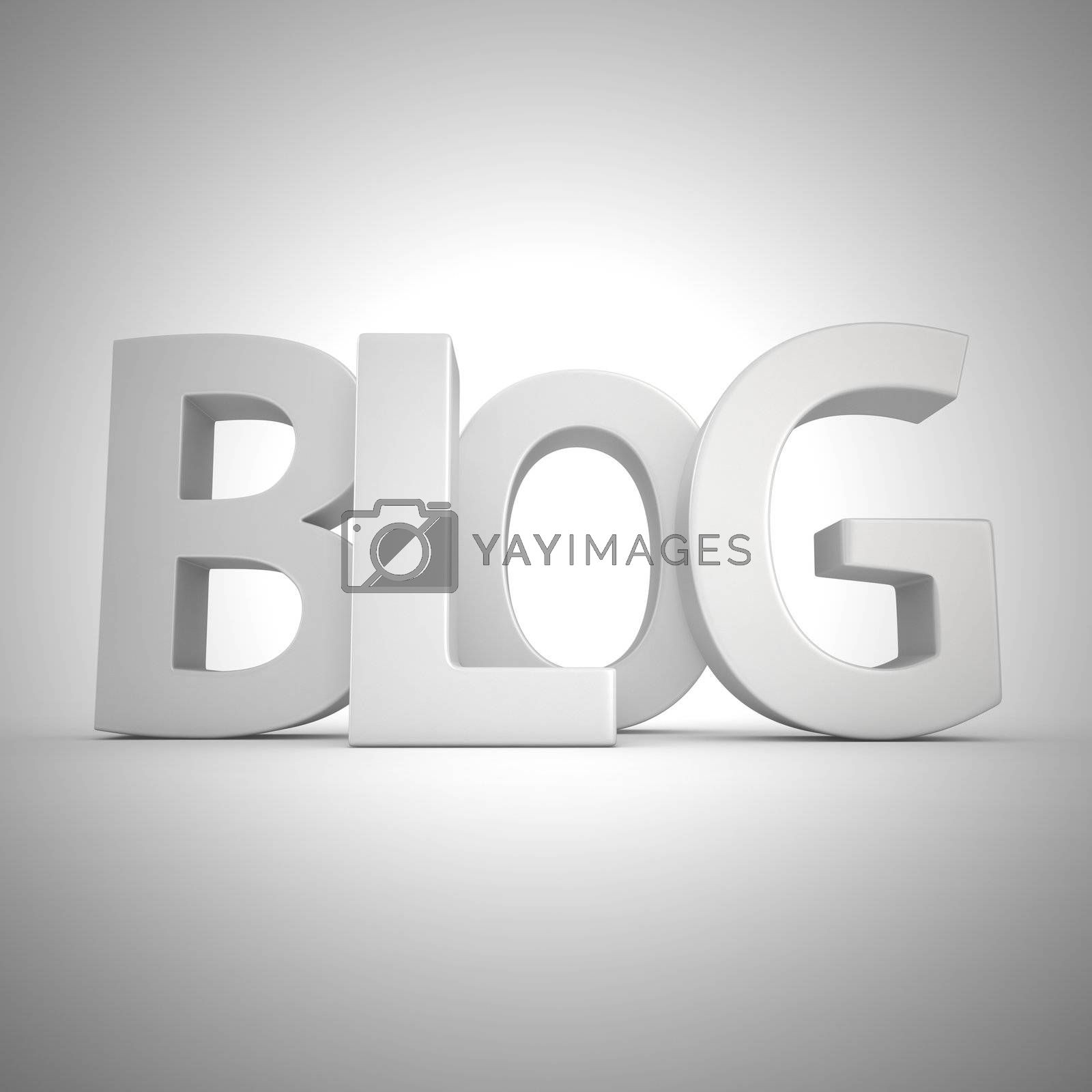 """Word """"Blog"""" written by white letters"""
