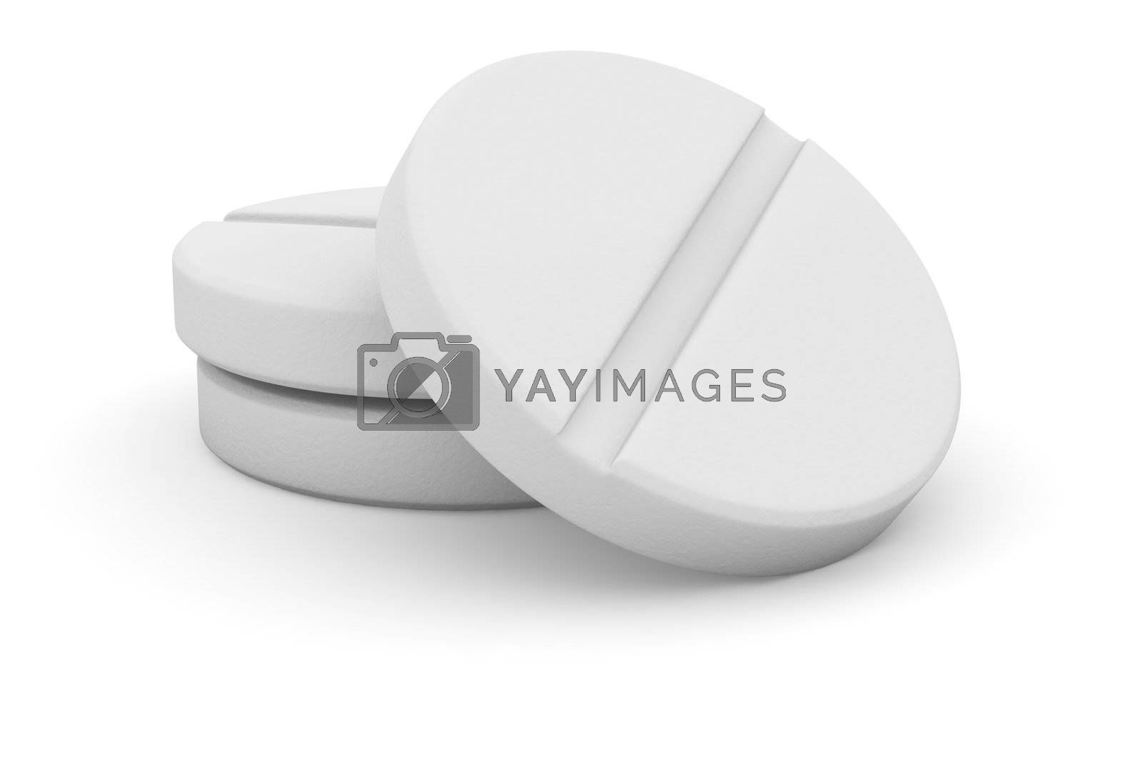Three tablets of round shape