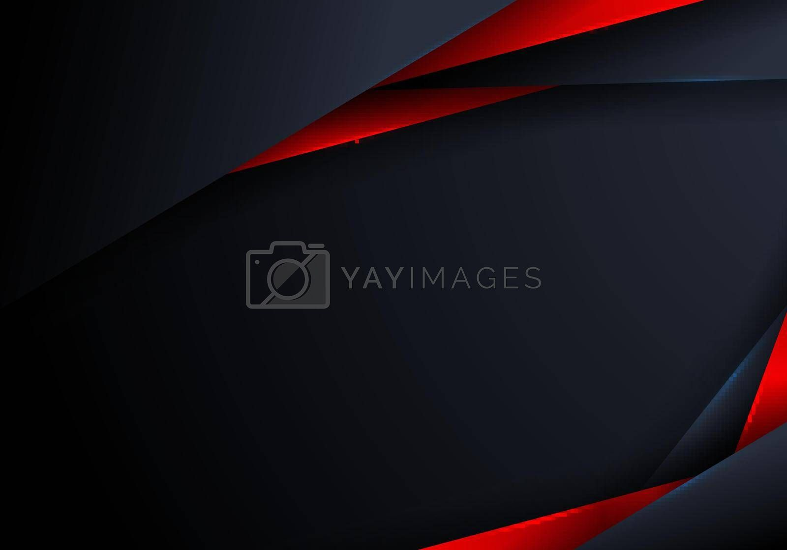 Royalty free image of Abstract elegant modern triangles polygonal blue and red shiny on dark background by phochi