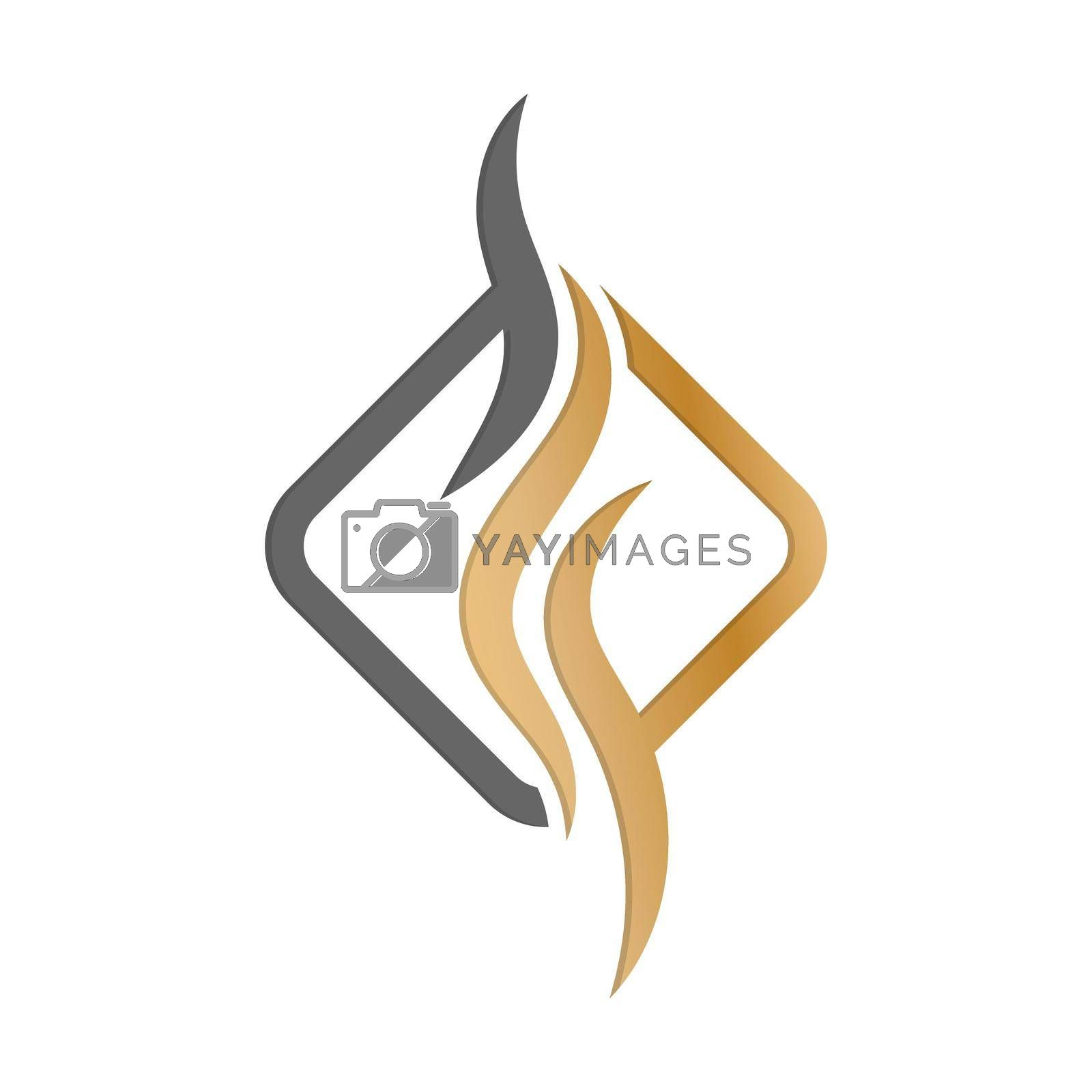 template for a logo, emblem or sticker. icon for the site and applications. Flat style