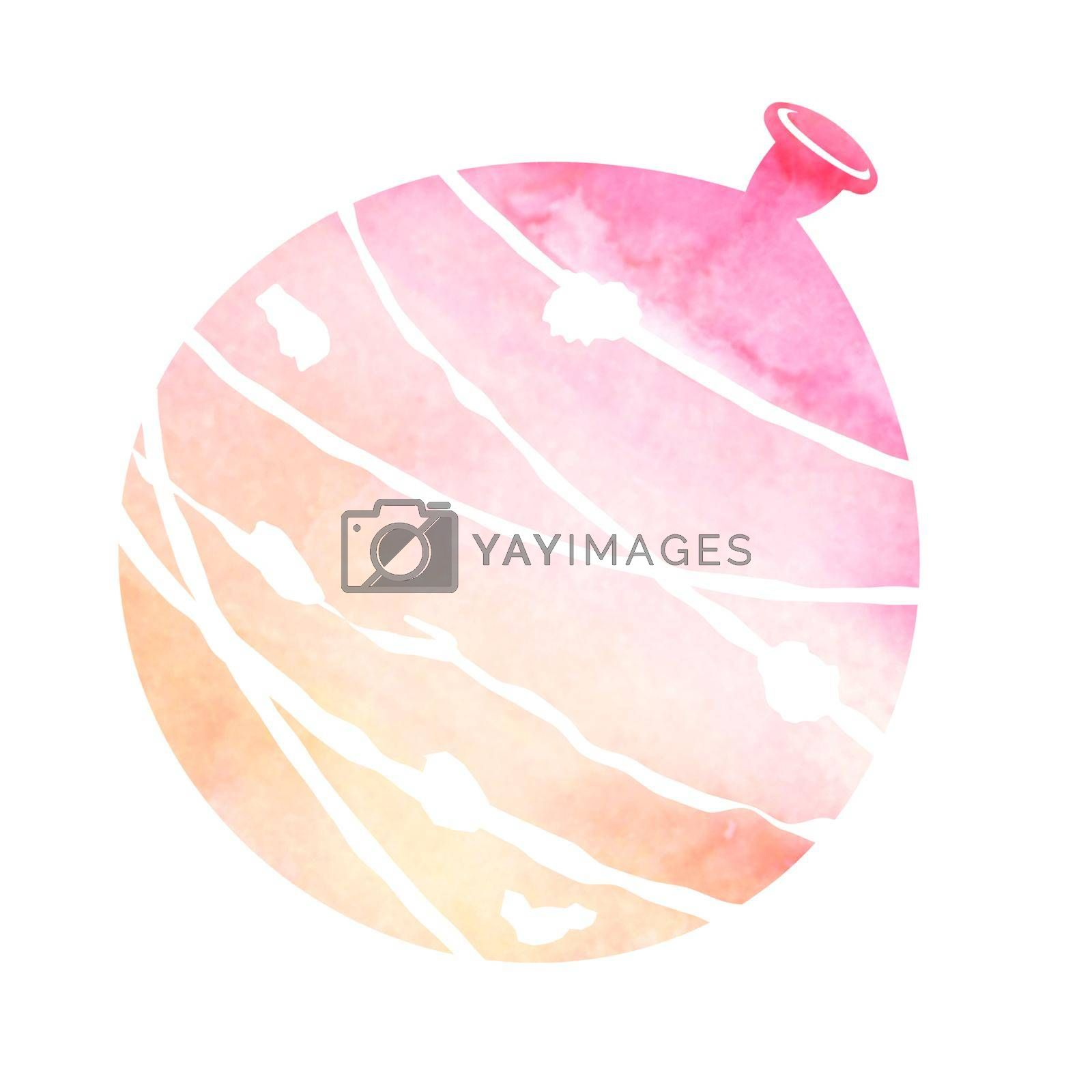 Royalty free image of Summer motif watercolor painting illustration for summer greeting card etc.   water balloon by barks