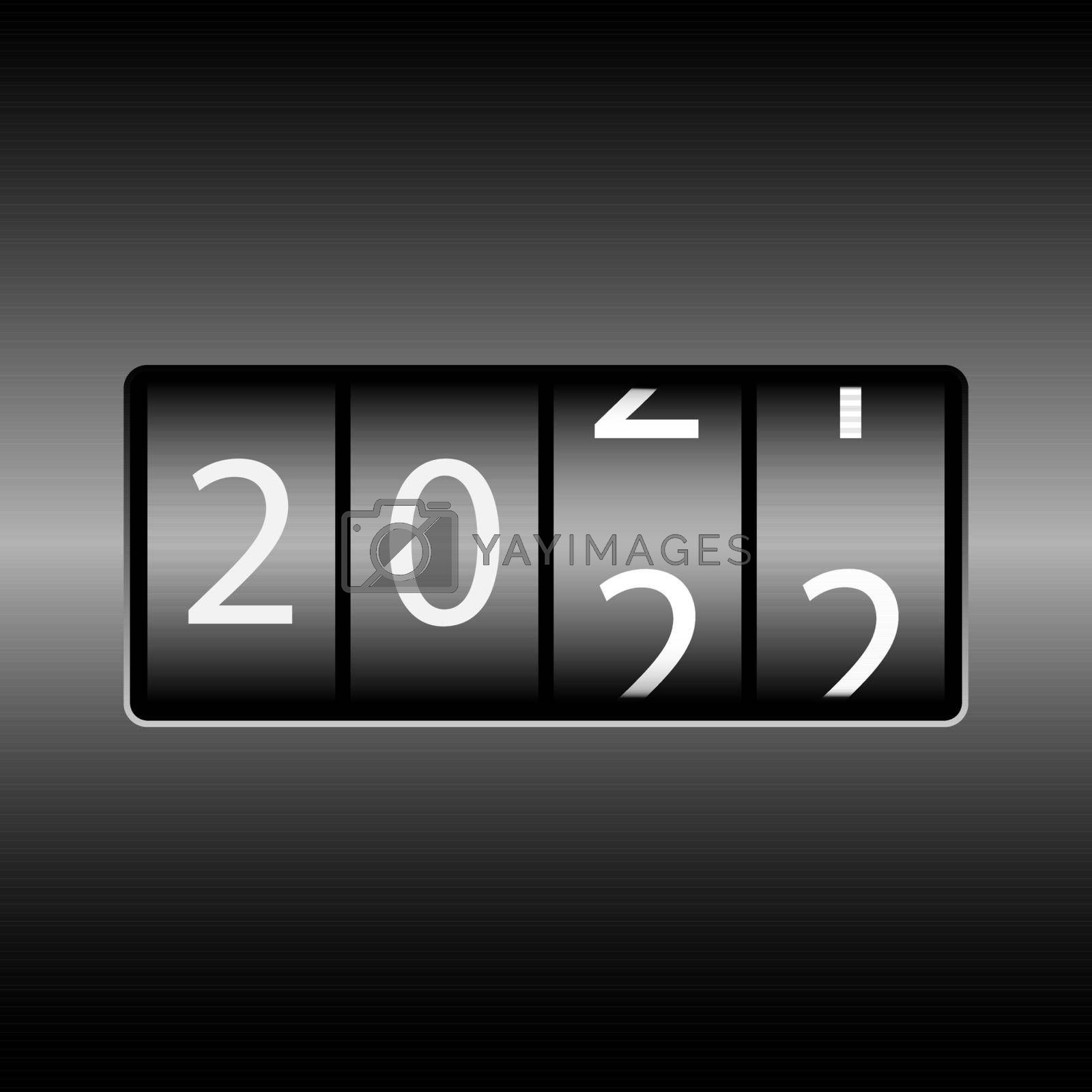 Royalty free image of Odometer with the numbers 2022. New year 2022 is on the odometer. Merry Christmas and Happy New Year by Grommik