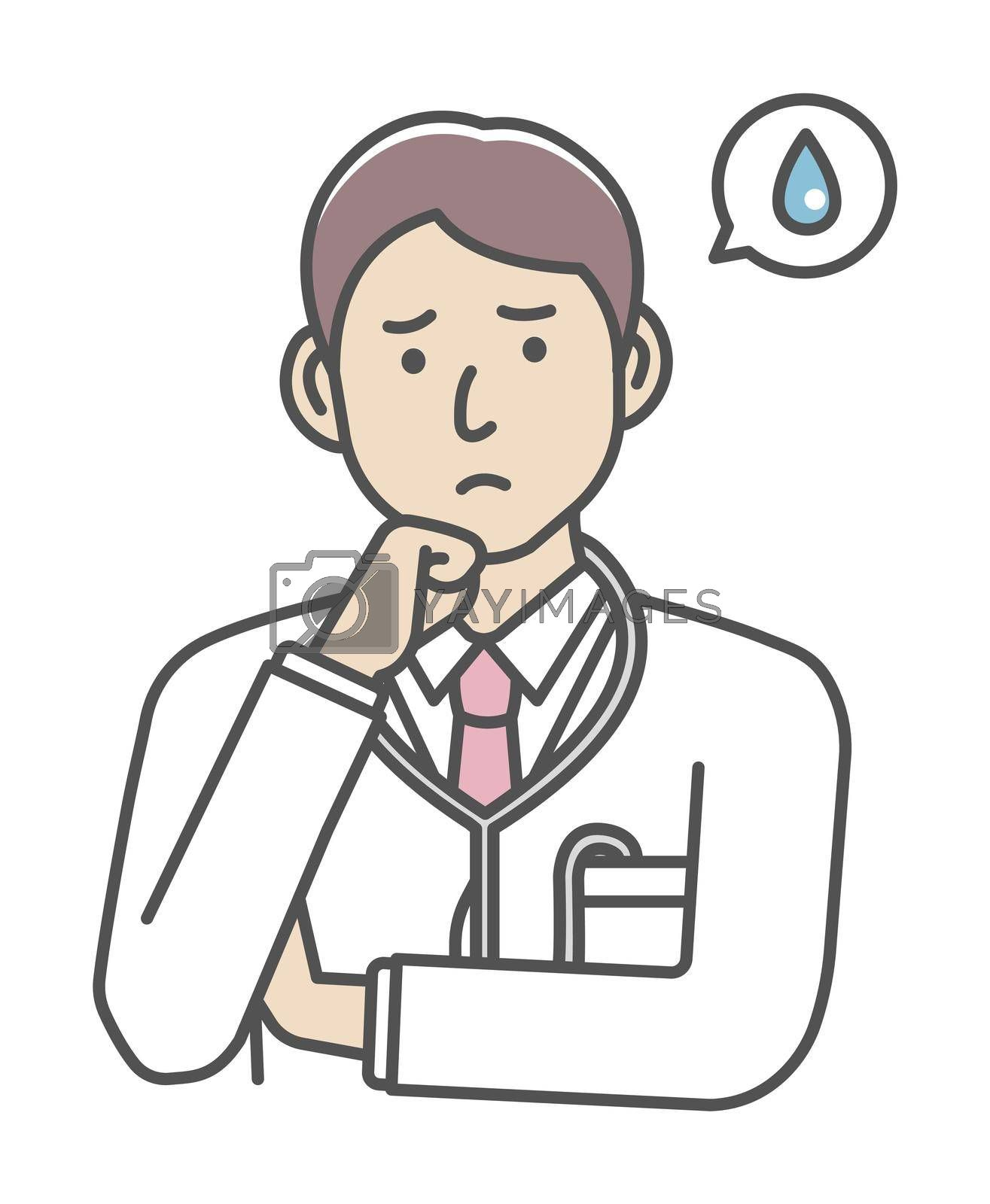Royalty free image of Young male doctor gesture variation illustration   upset, unhappy by barks