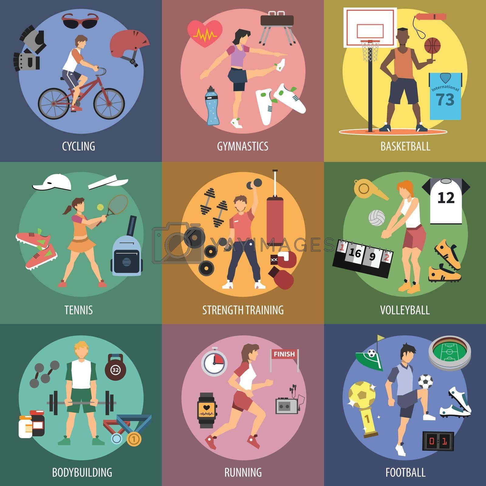 Royalty free image of Sport People Concepts by mstjahanara