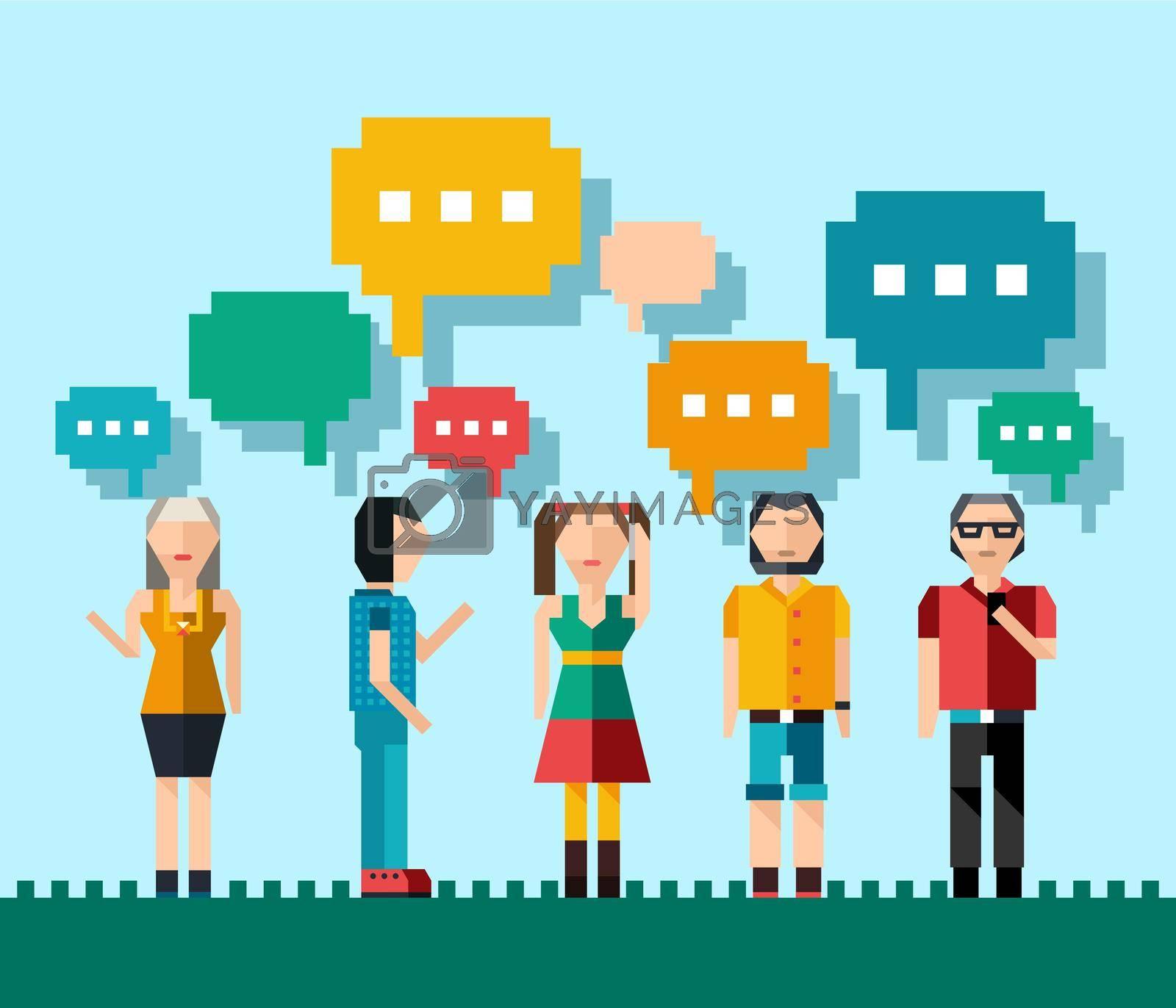 Royalty free image of Social people concept by mstjahanara