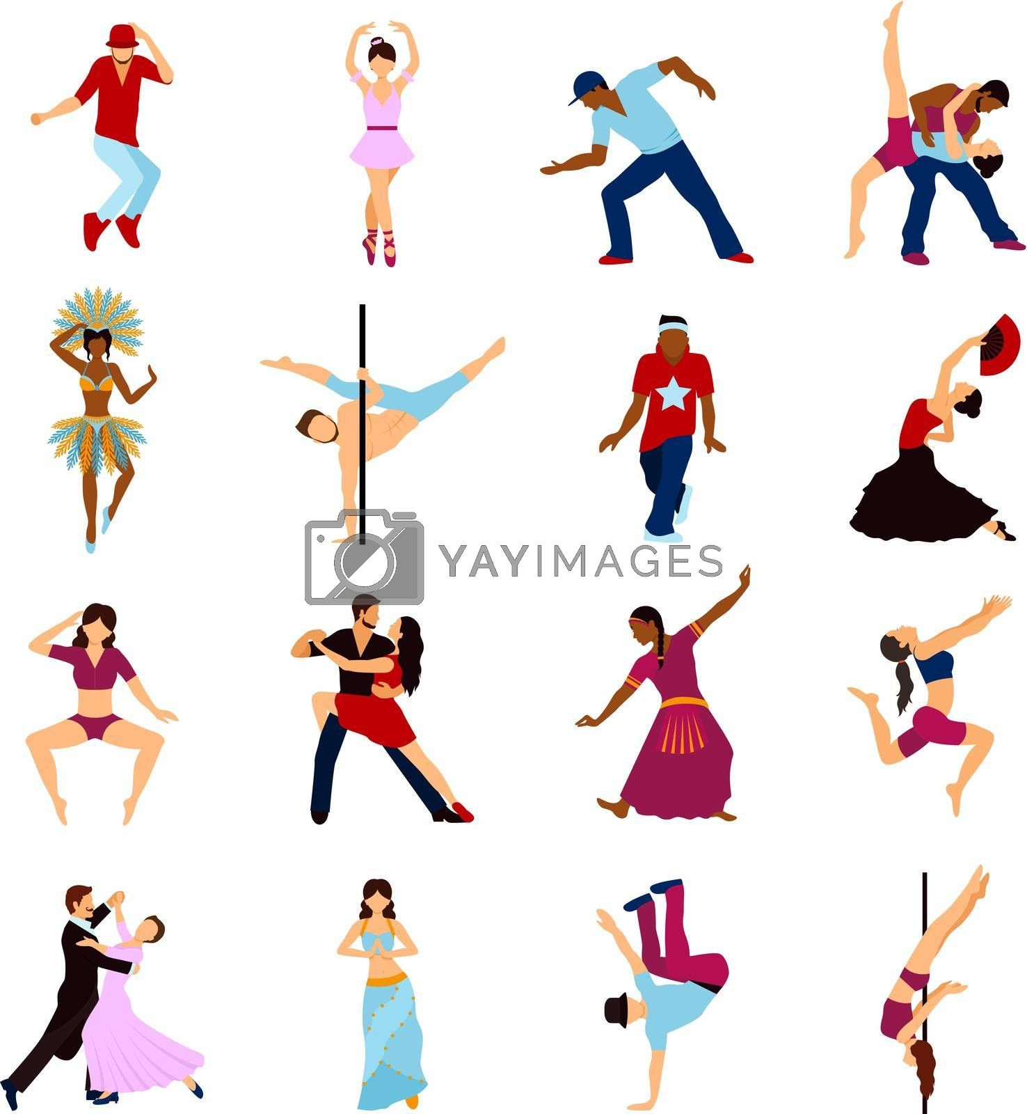 Royalty free image of People Dancing Set by mstjahanara