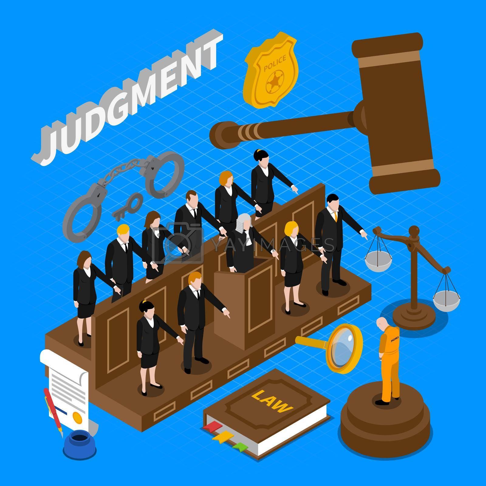 Royalty free image of Judgment People Illustration by mstjahanara