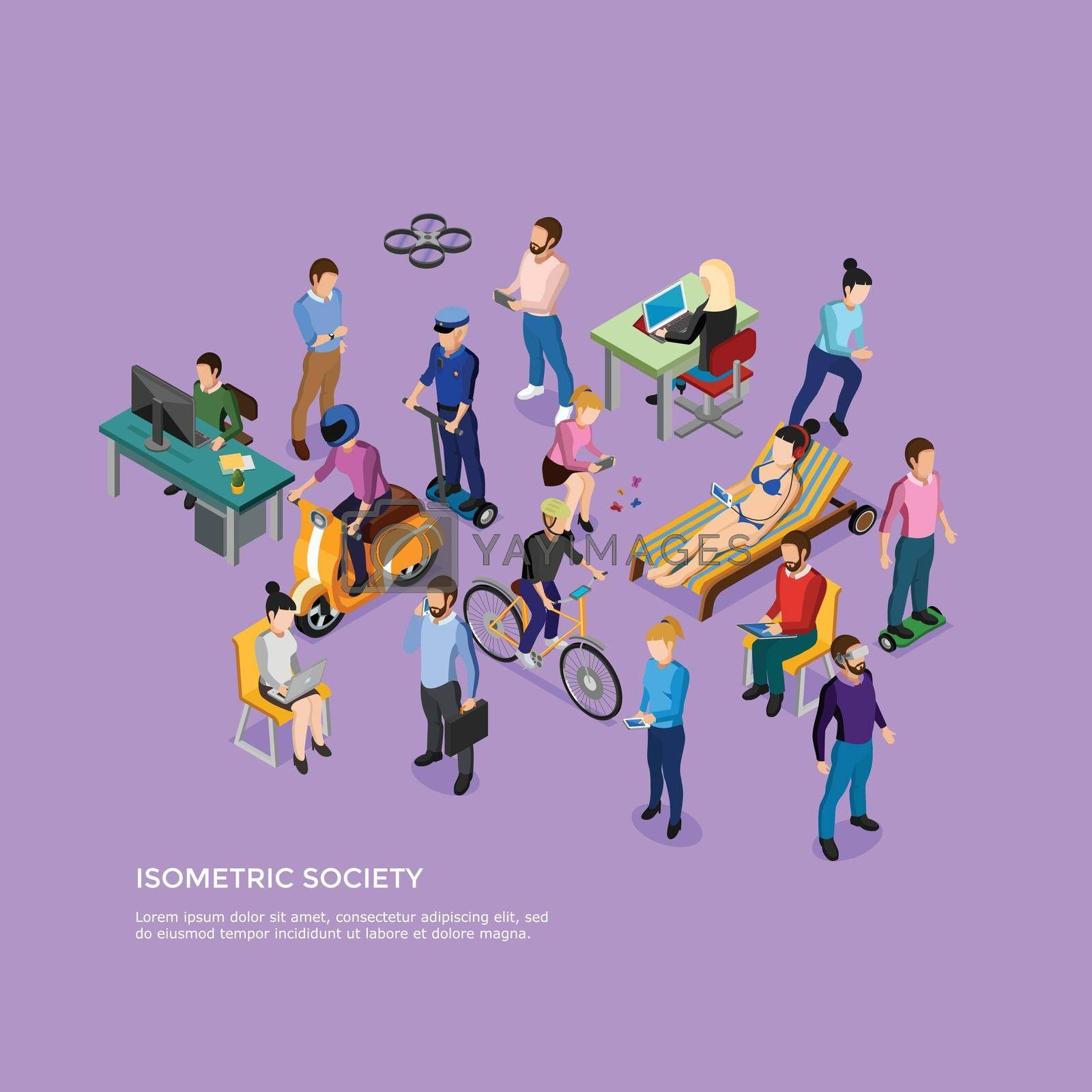 Royalty free image of Isometric People Society by mstjahanara