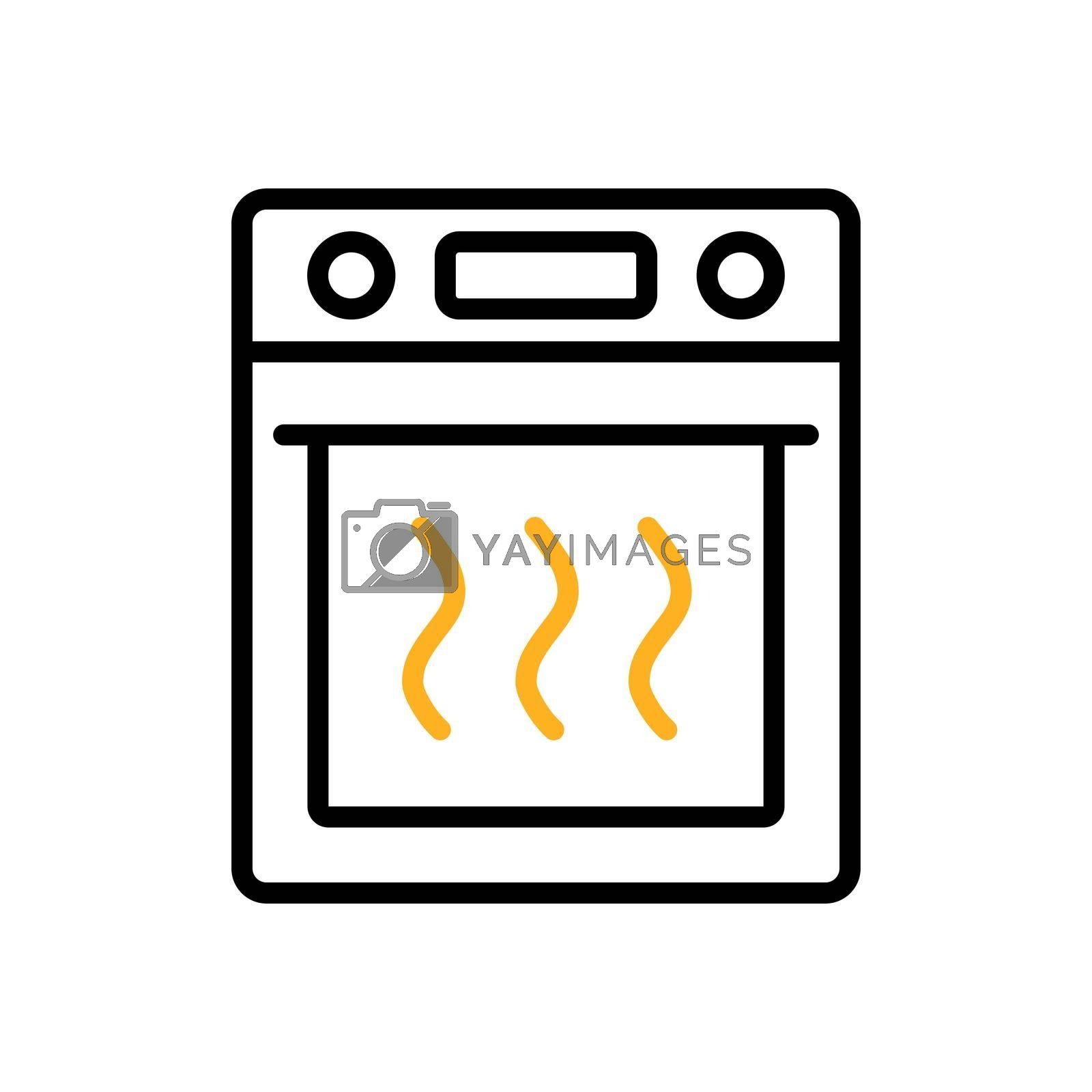 Royalty free image of Electric oven vector flat icon. Kitchen sign by nosik